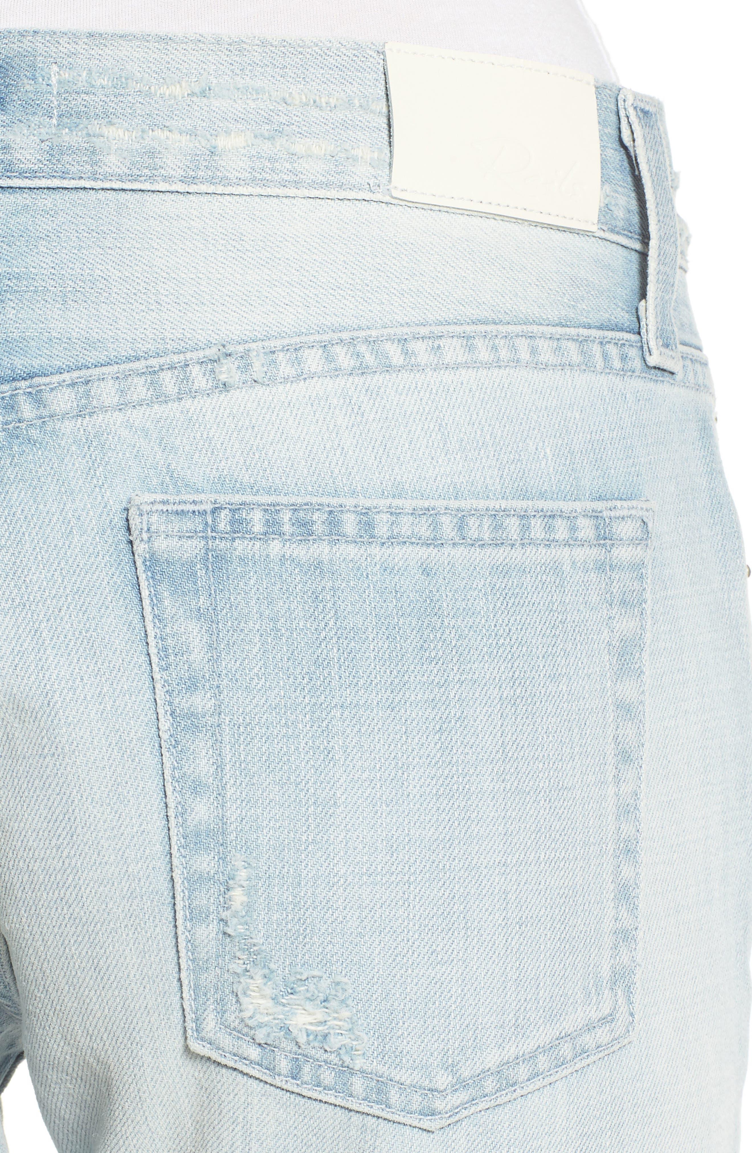 Beckett Distressed Boyfriend Jeans,                             Alternate thumbnail 4, color,                             429
