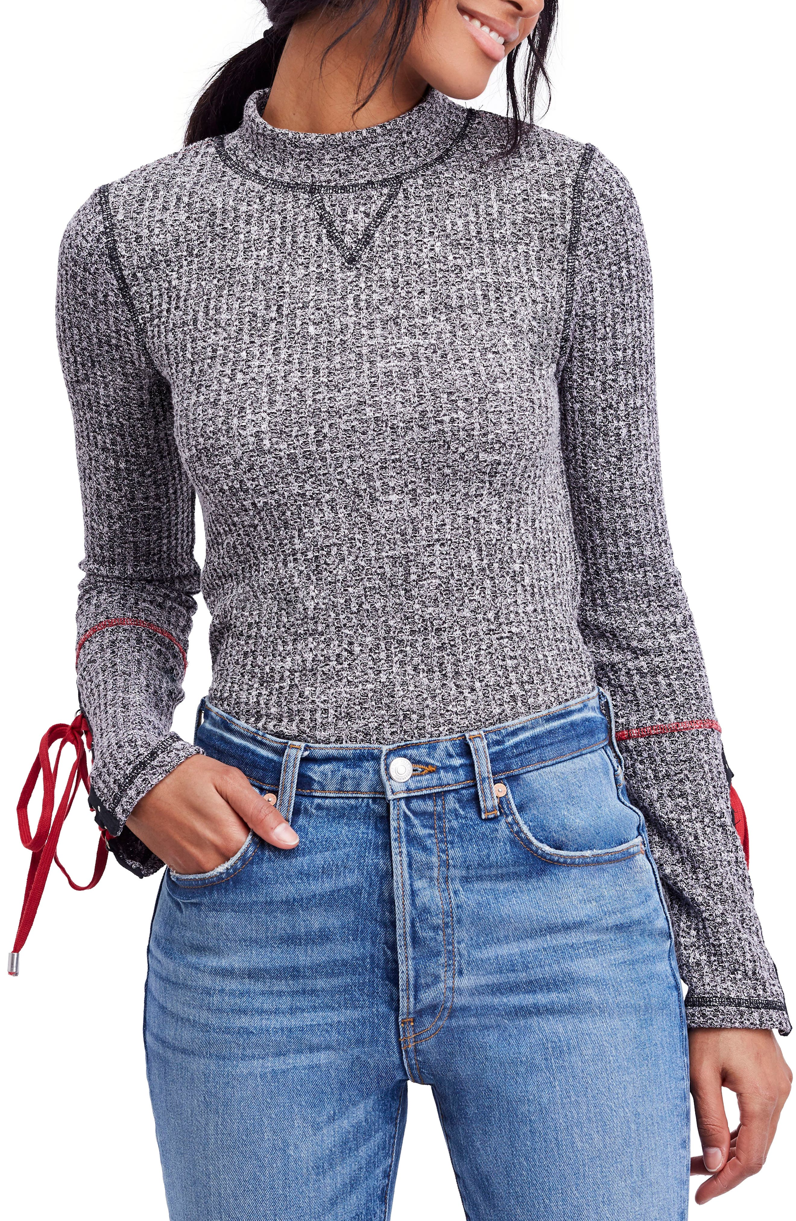 Mountaineer Cuff Mock Neck, Main, color, 001
