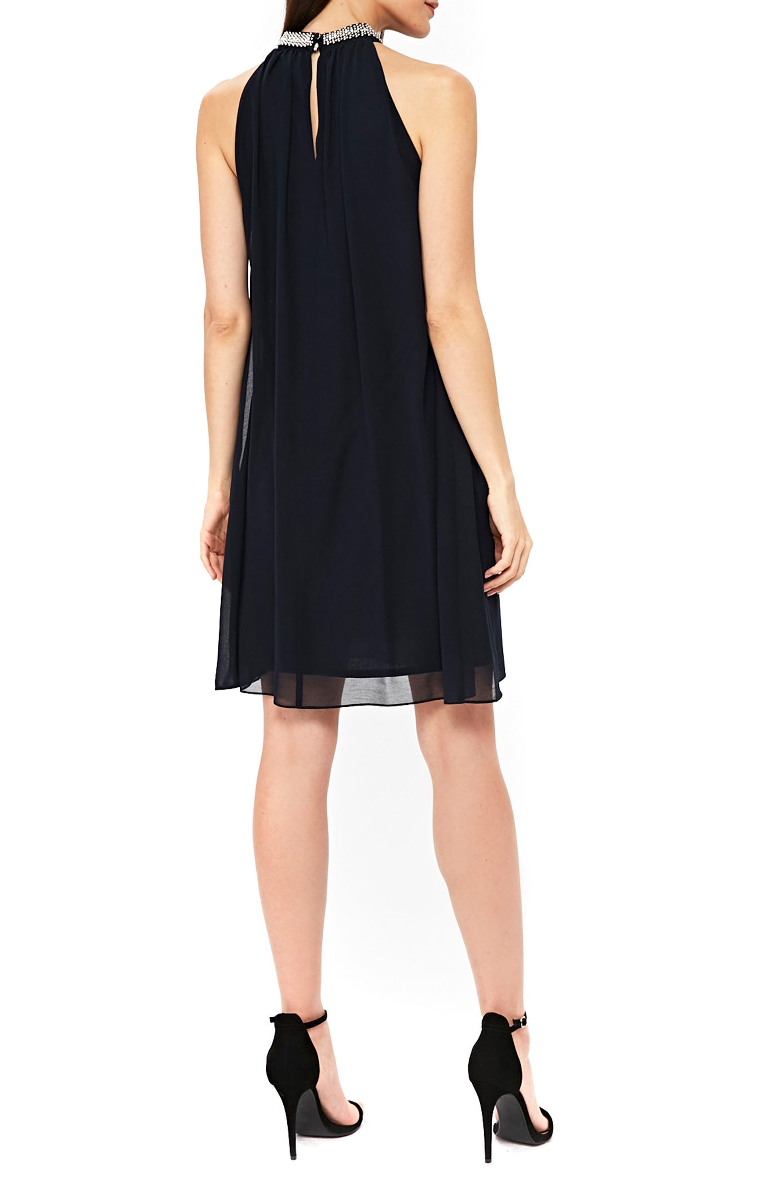Embellished Neck Shift Dress,                             Alternate thumbnail 2, color,                             401