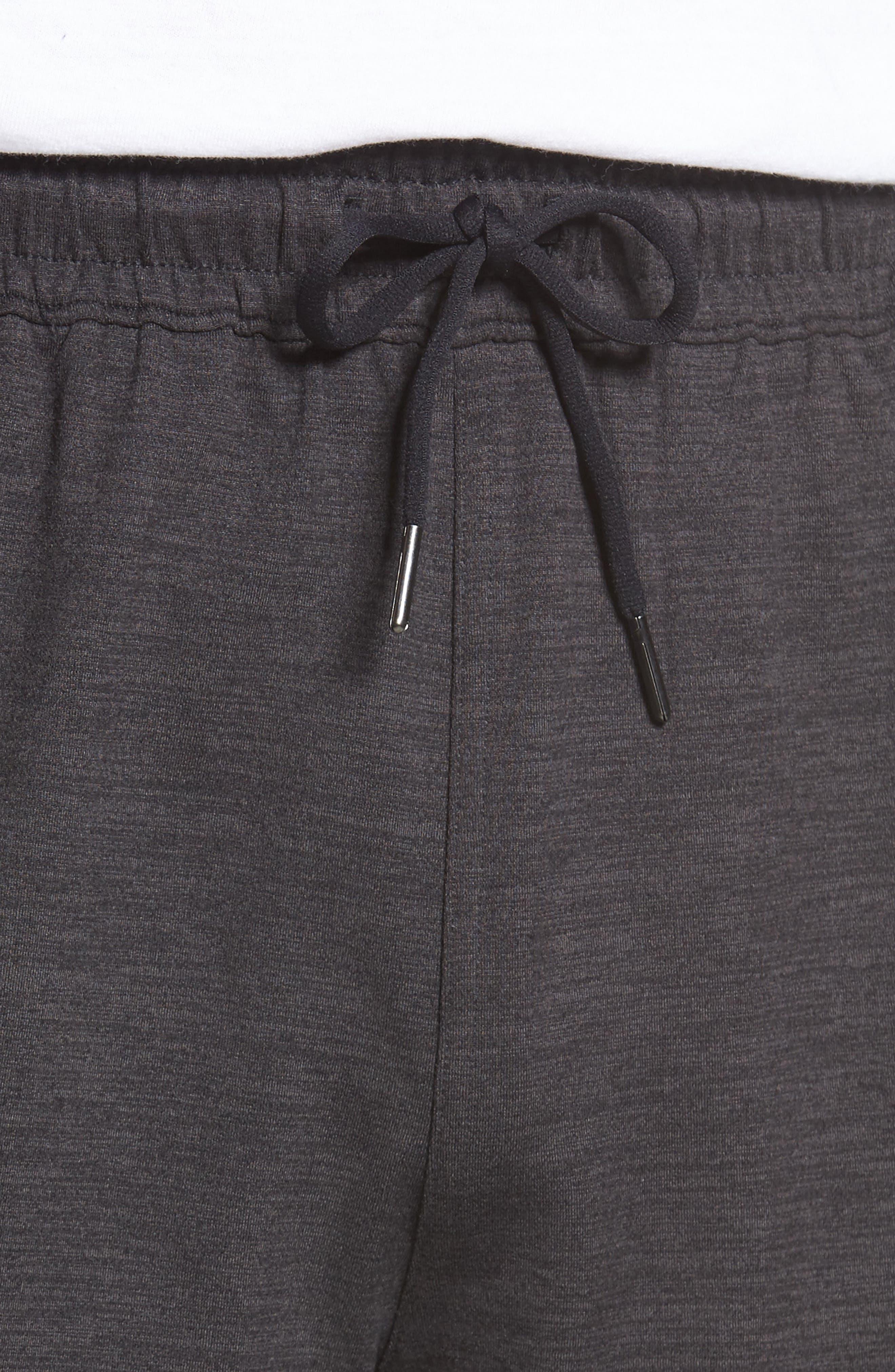 ZELLA,                             Pyrite Knit Shorts,                             Alternate thumbnail 4, color,                             BLACK OXIDE MELANGE