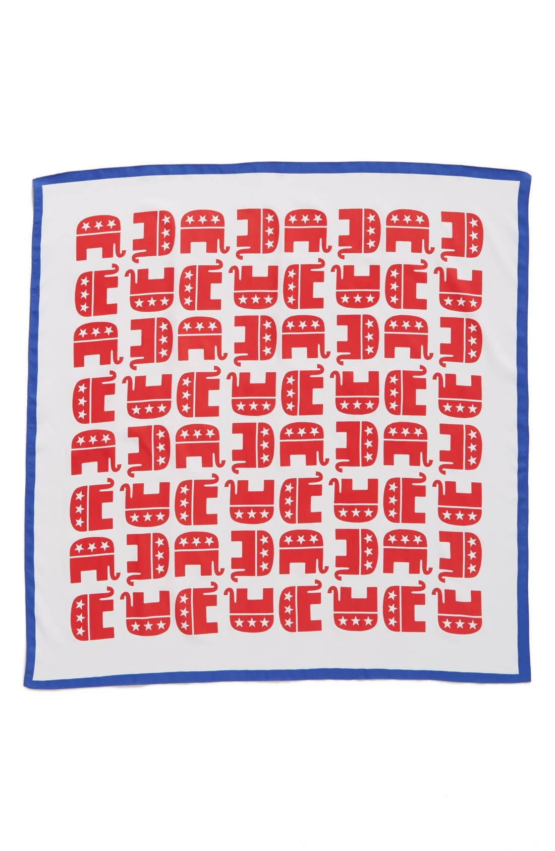 'Electoral Elephant' Square Scarf,                             Alternate thumbnail 2, color,                             629