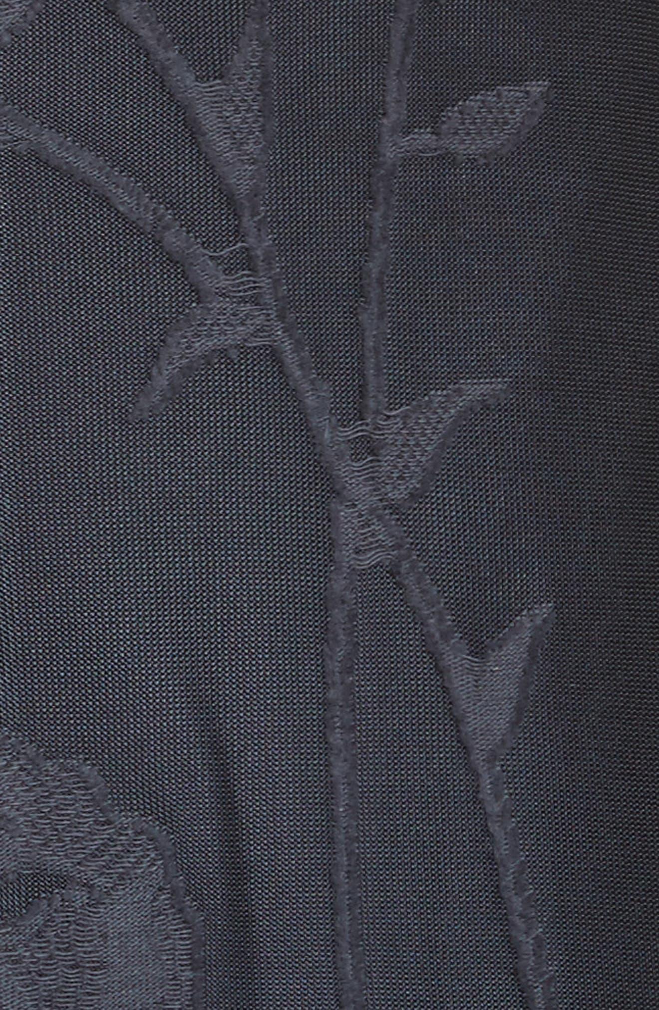 Ivonna Sheer Fil Coupé Midi Dress,                             Alternate thumbnail 5, color,                             479