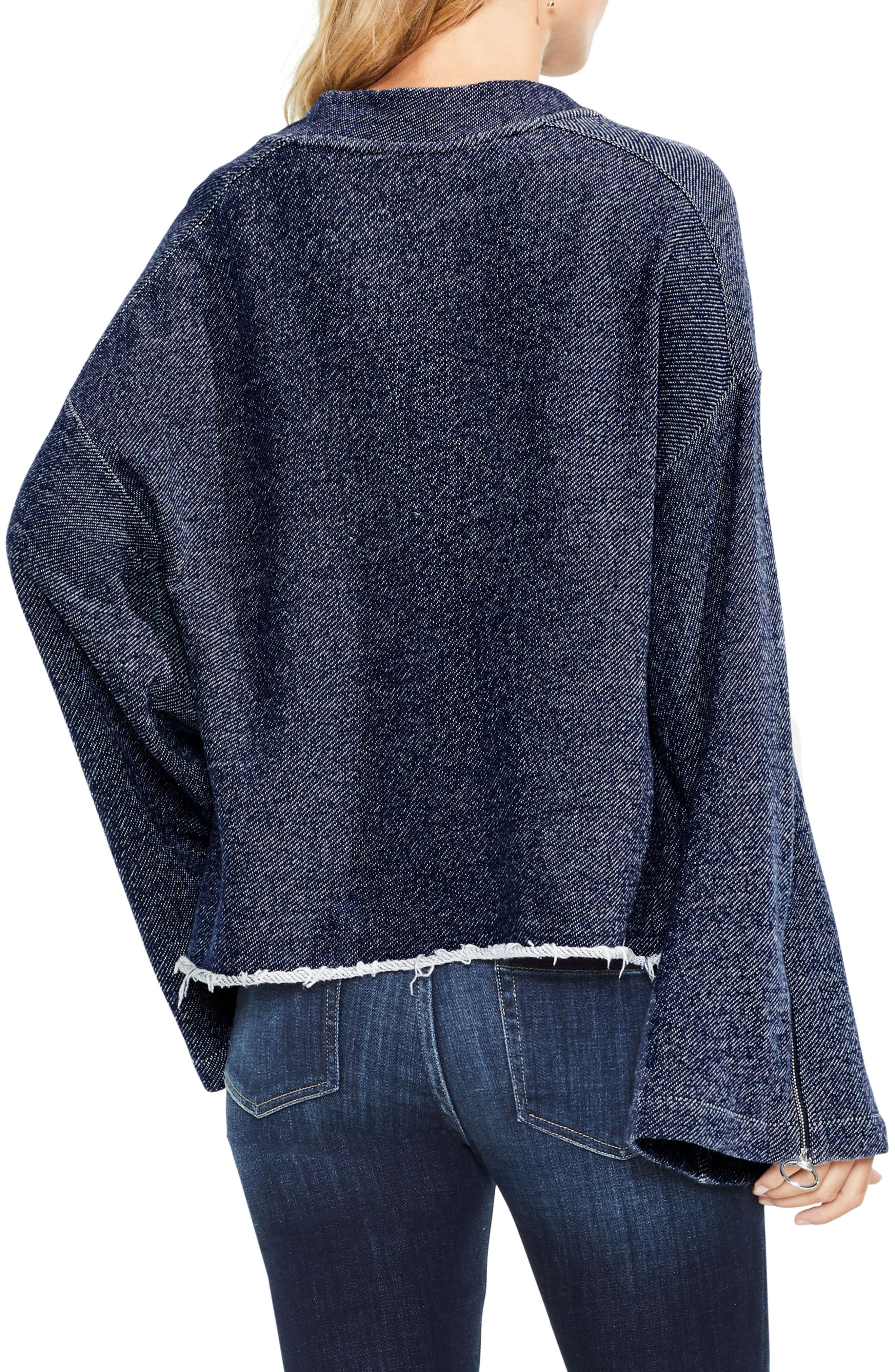 Zip Bell Sleeve Top,                             Alternate thumbnail 2, color,                             430