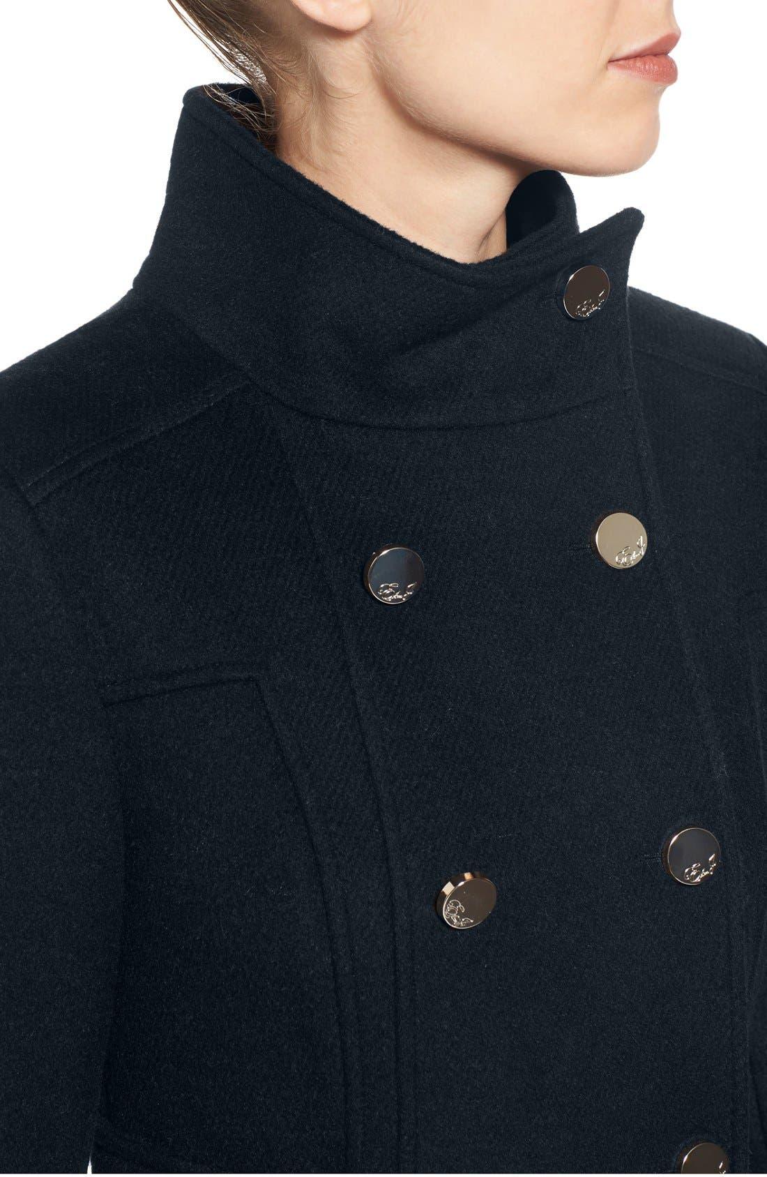 Wool Blend Long Military Coat,                             Alternate thumbnail 24, color,