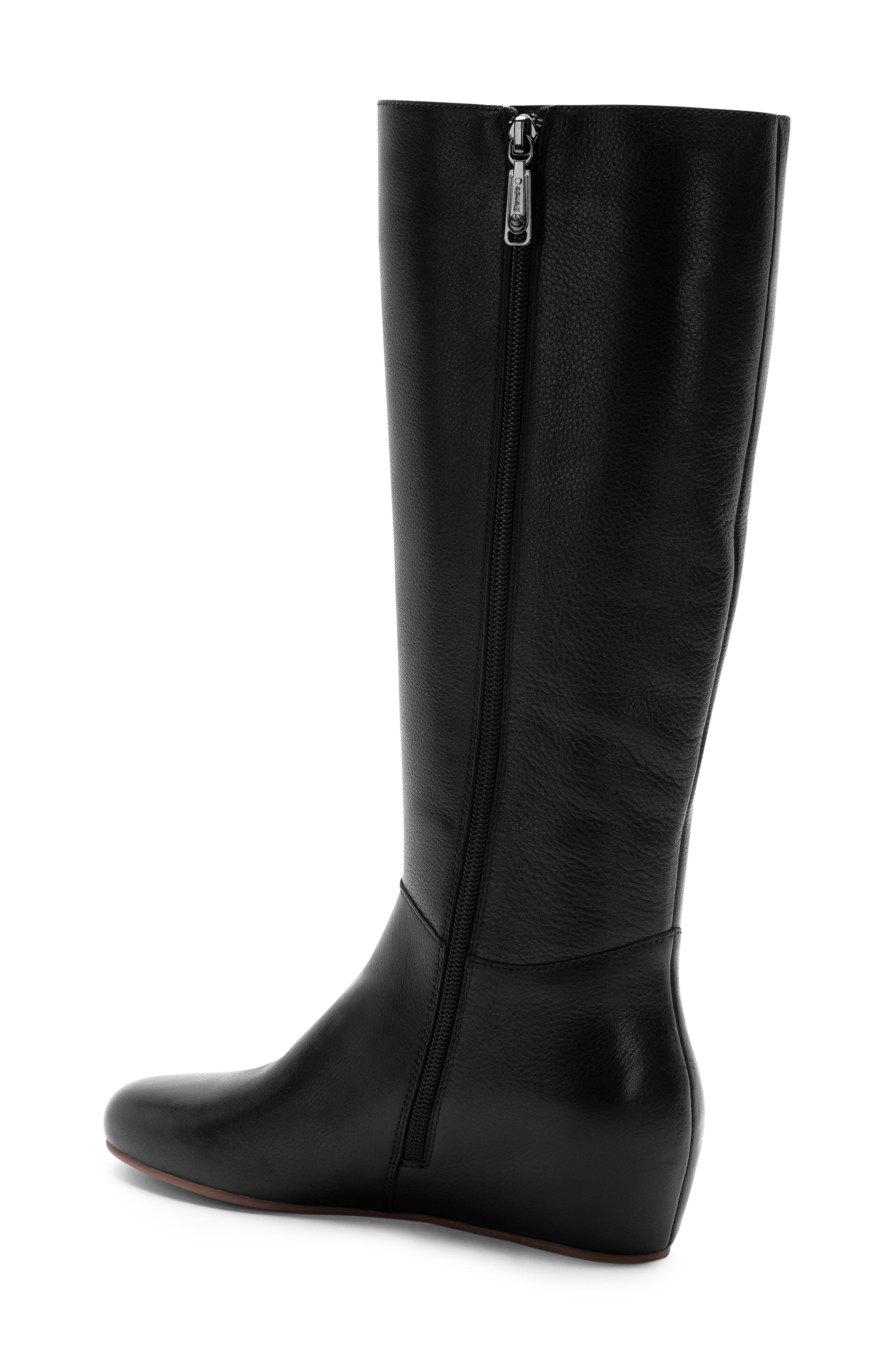 Monica Waterproof Boot,                             Alternate thumbnail 2, color,                             BLACK LEATHER