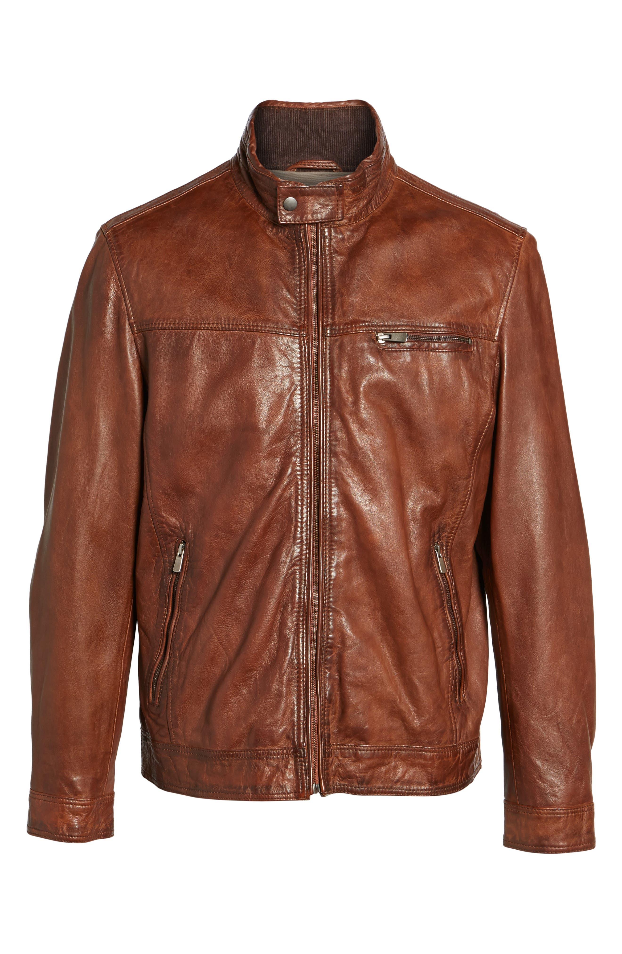 Leather Jacket,                             Alternate thumbnail 5, color,                             210