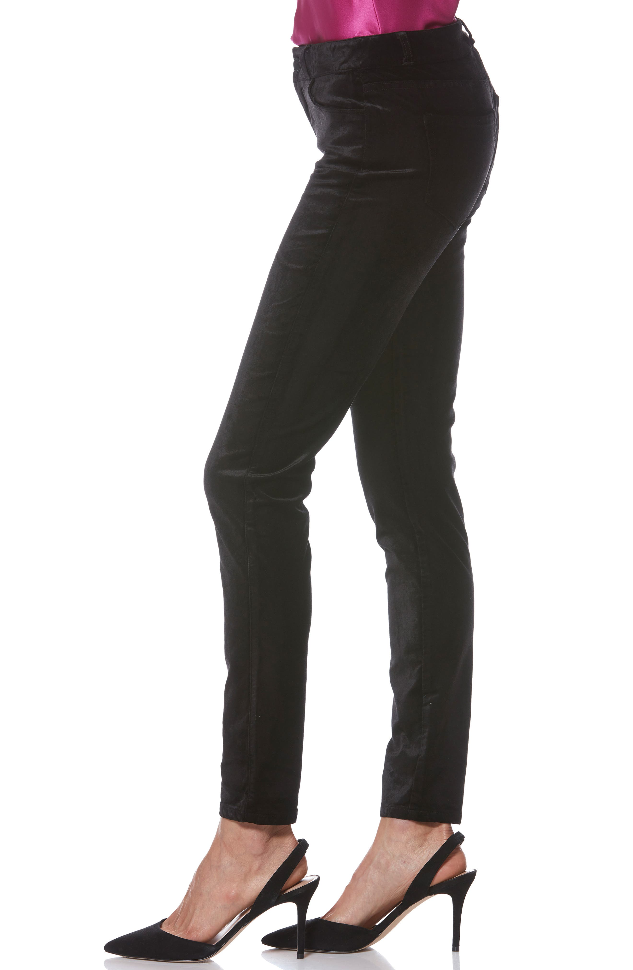 Verdugo Ultra Skinny Velvet Pants,                             Alternate thumbnail 3, color,                             001