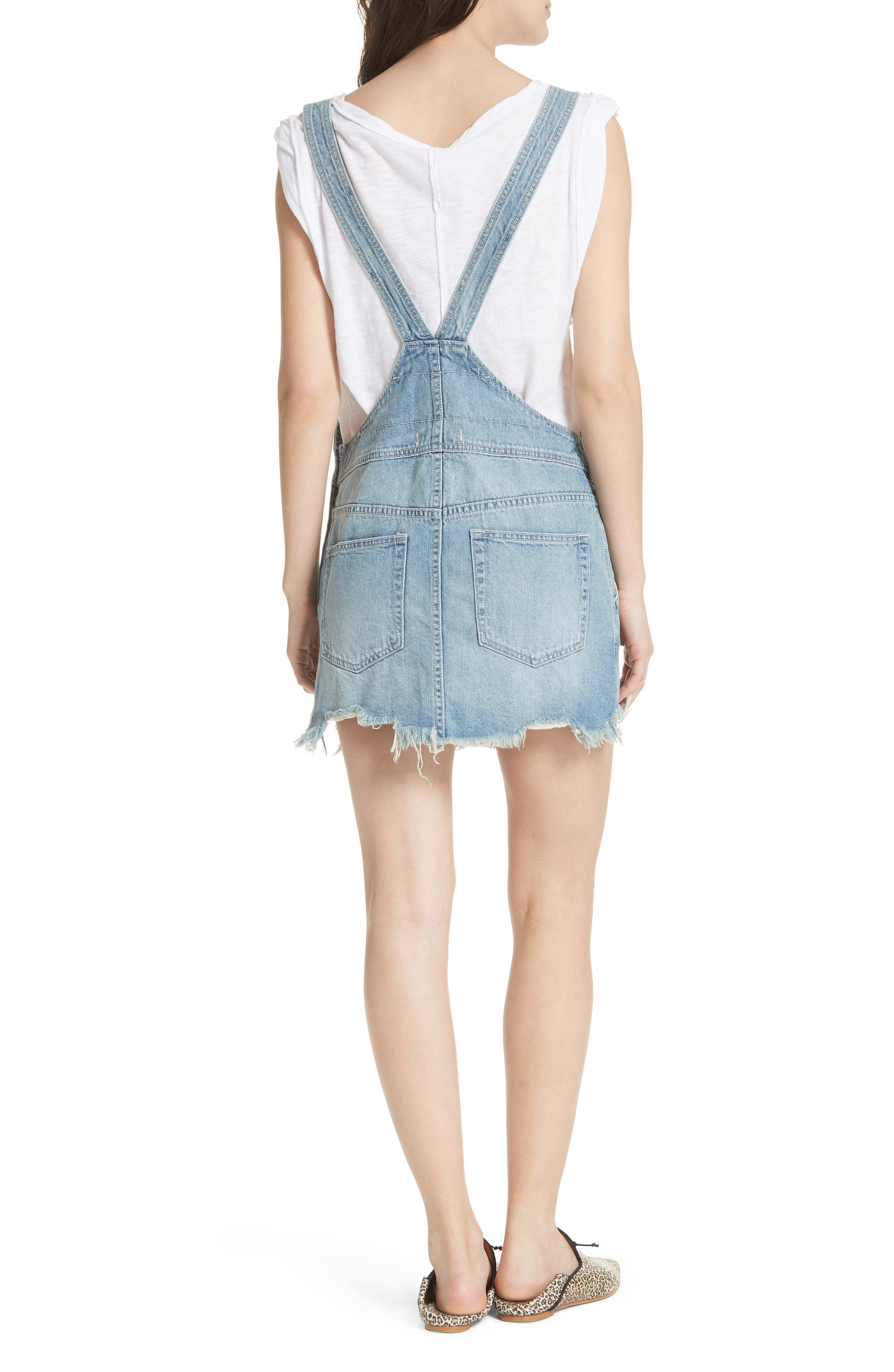 Torn-Up Skirt Overalls,                             Alternate thumbnail 2, color,                             400