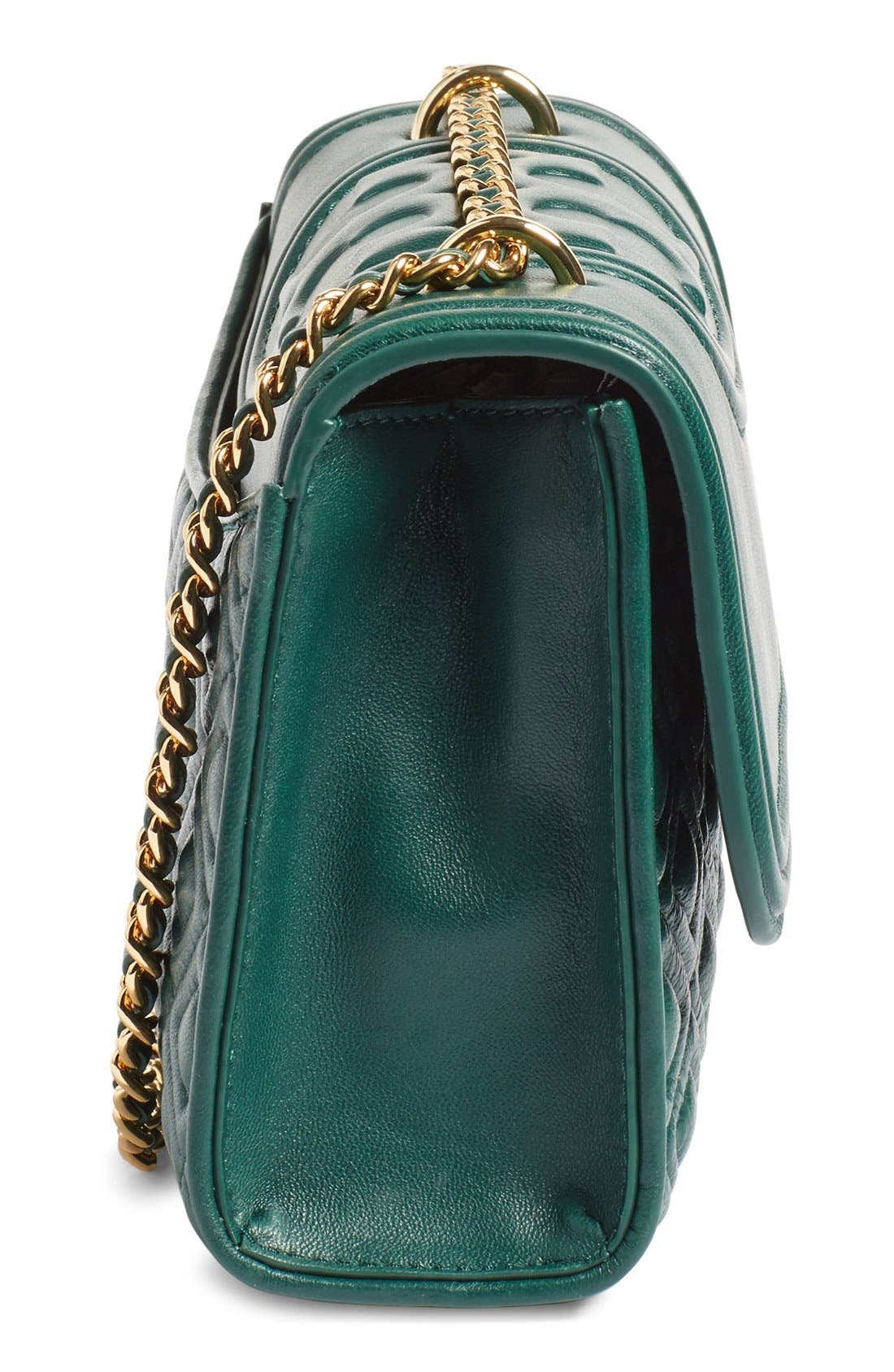 'Small Fleming' Quilted Leather Shoulder Bag,                             Alternate thumbnail 19, color,