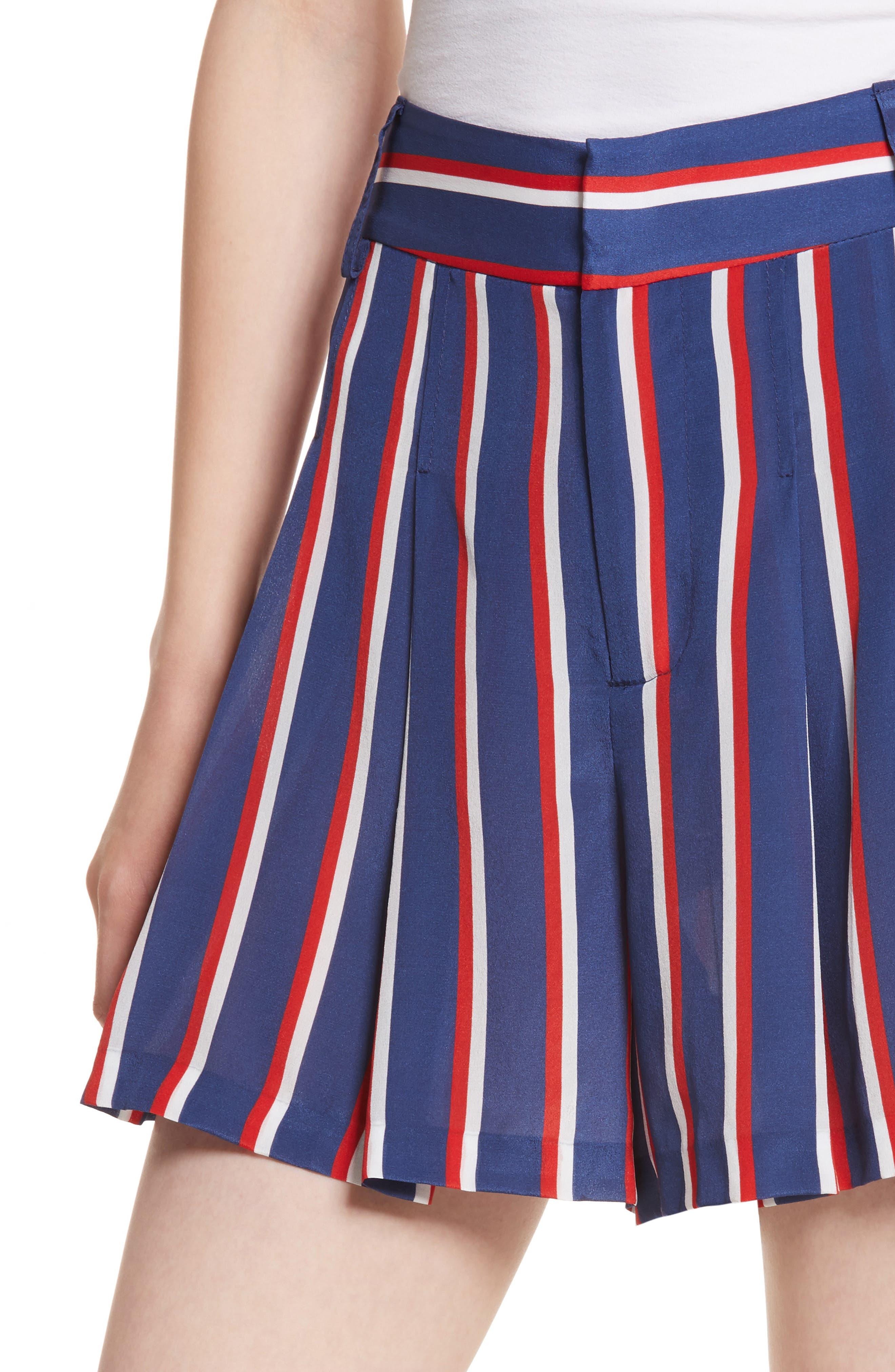 Scarlet Super High Waist Flutter Shorts,                             Alternate thumbnail 4, color,                             475