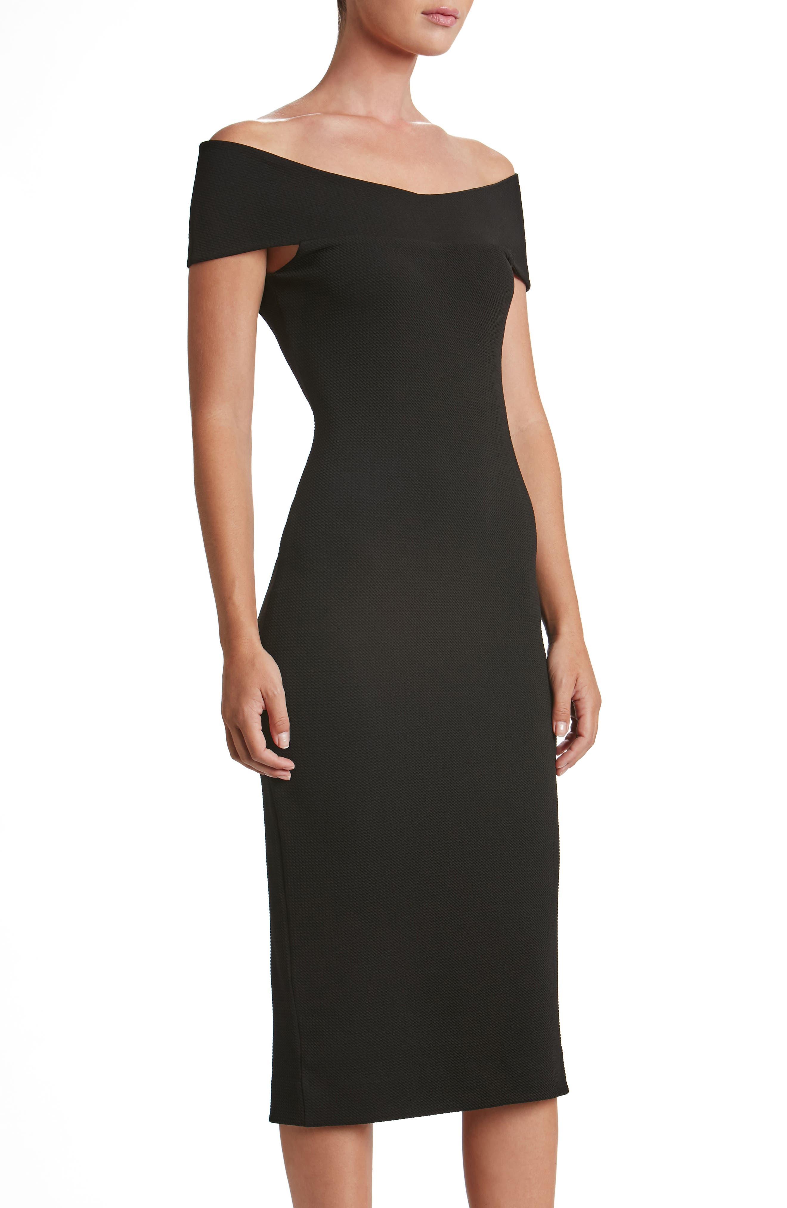Claudette Textured Dress,                             Alternate thumbnail 3, color,                             001