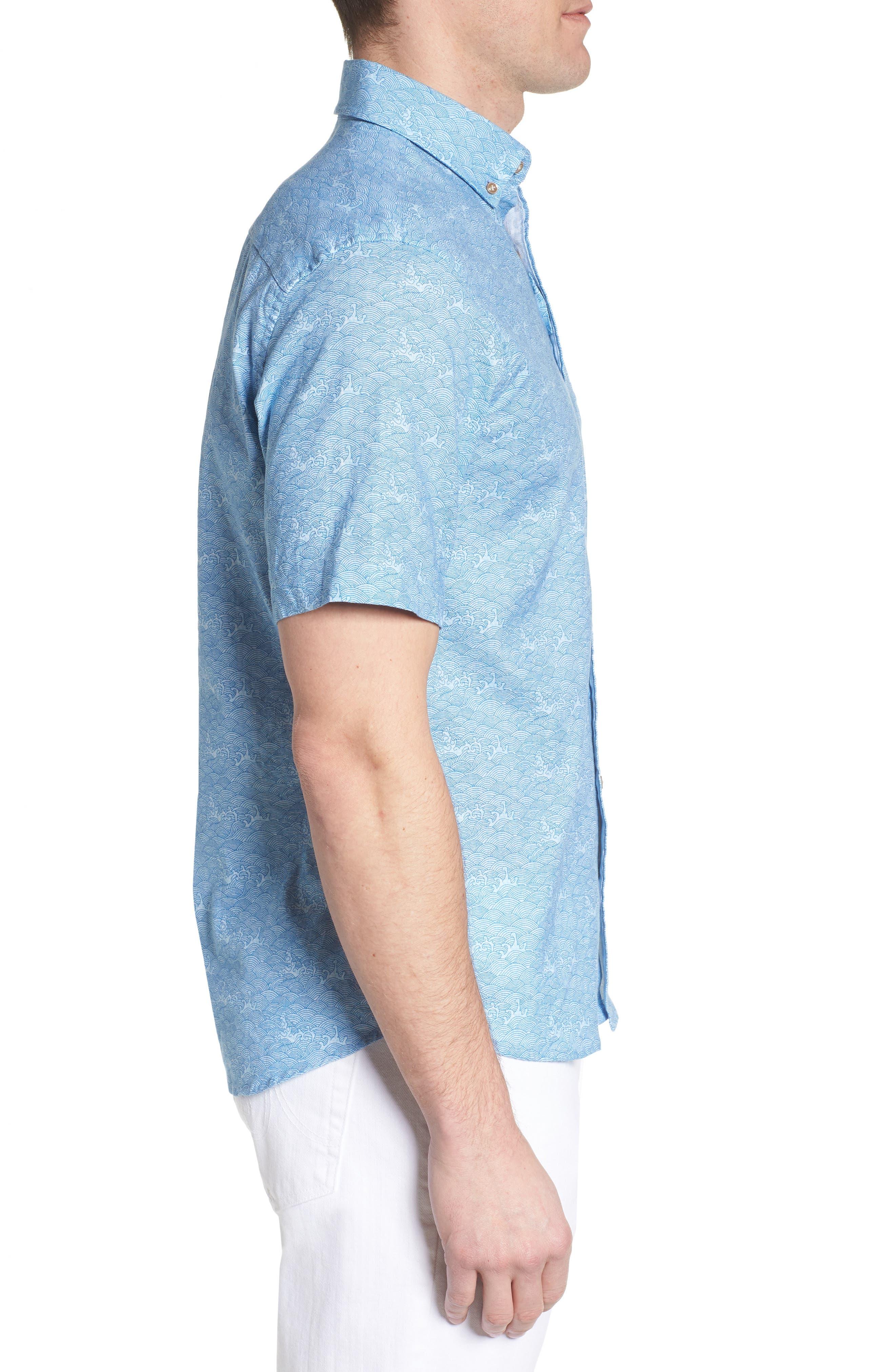 Cole Regular Fit Sport Shirt,                             Alternate thumbnail 3, color,                             347