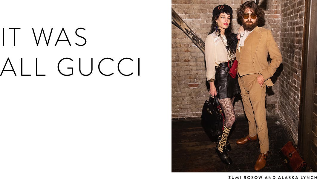 It was all Gucci at the downtown Seattle Gucci event.