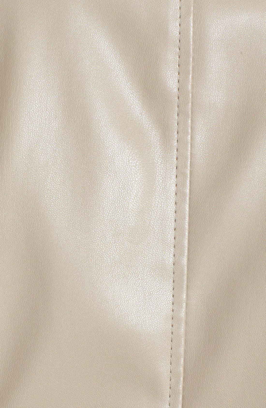 'Peppin' Drape Front Faux Leather Jacket,                             Alternate thumbnail 42, color,