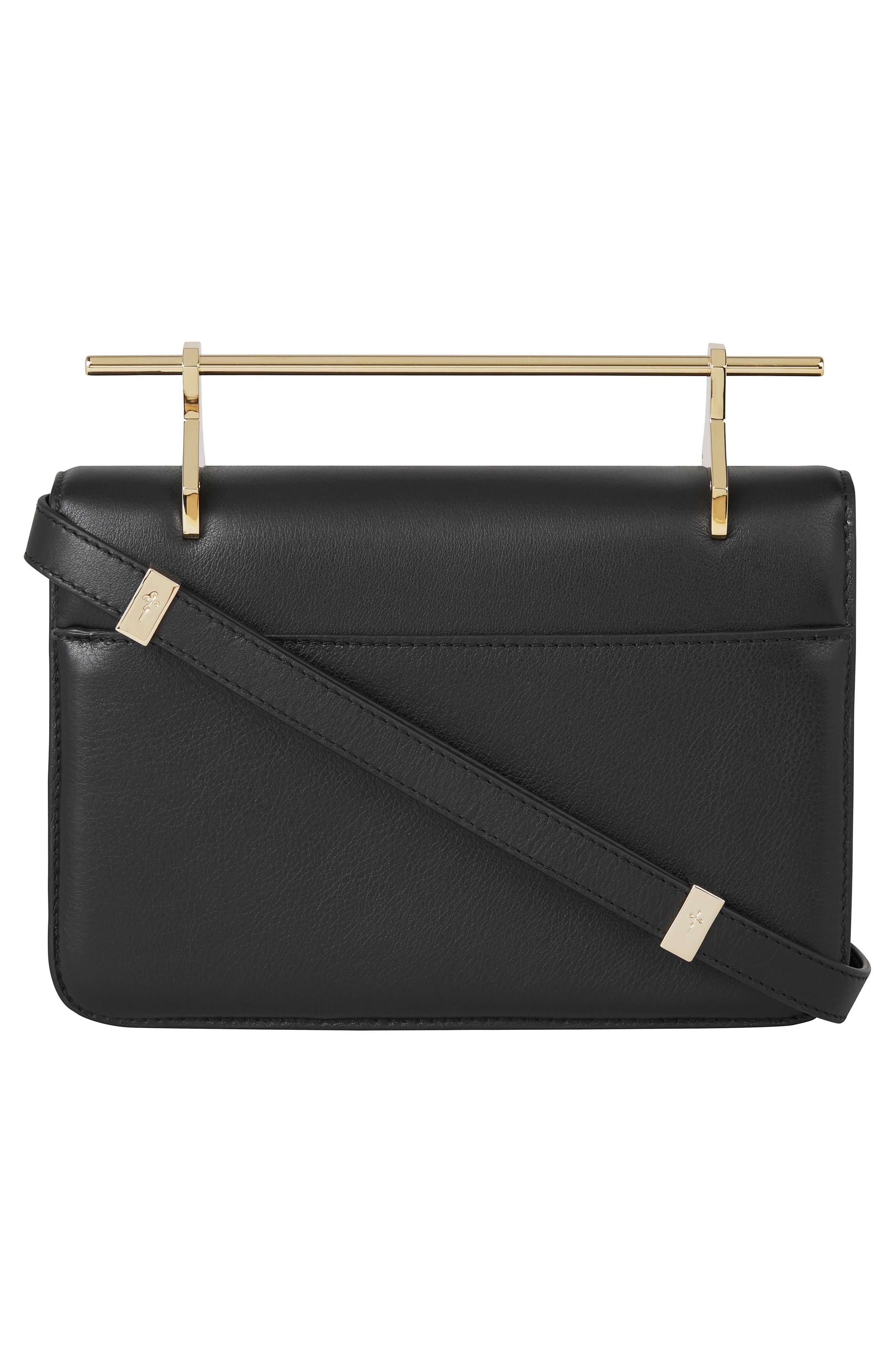La Fleur du Mal Leather Shoulder Bag,                             Alternate thumbnail 2, color,                             BLACK/ GOLD