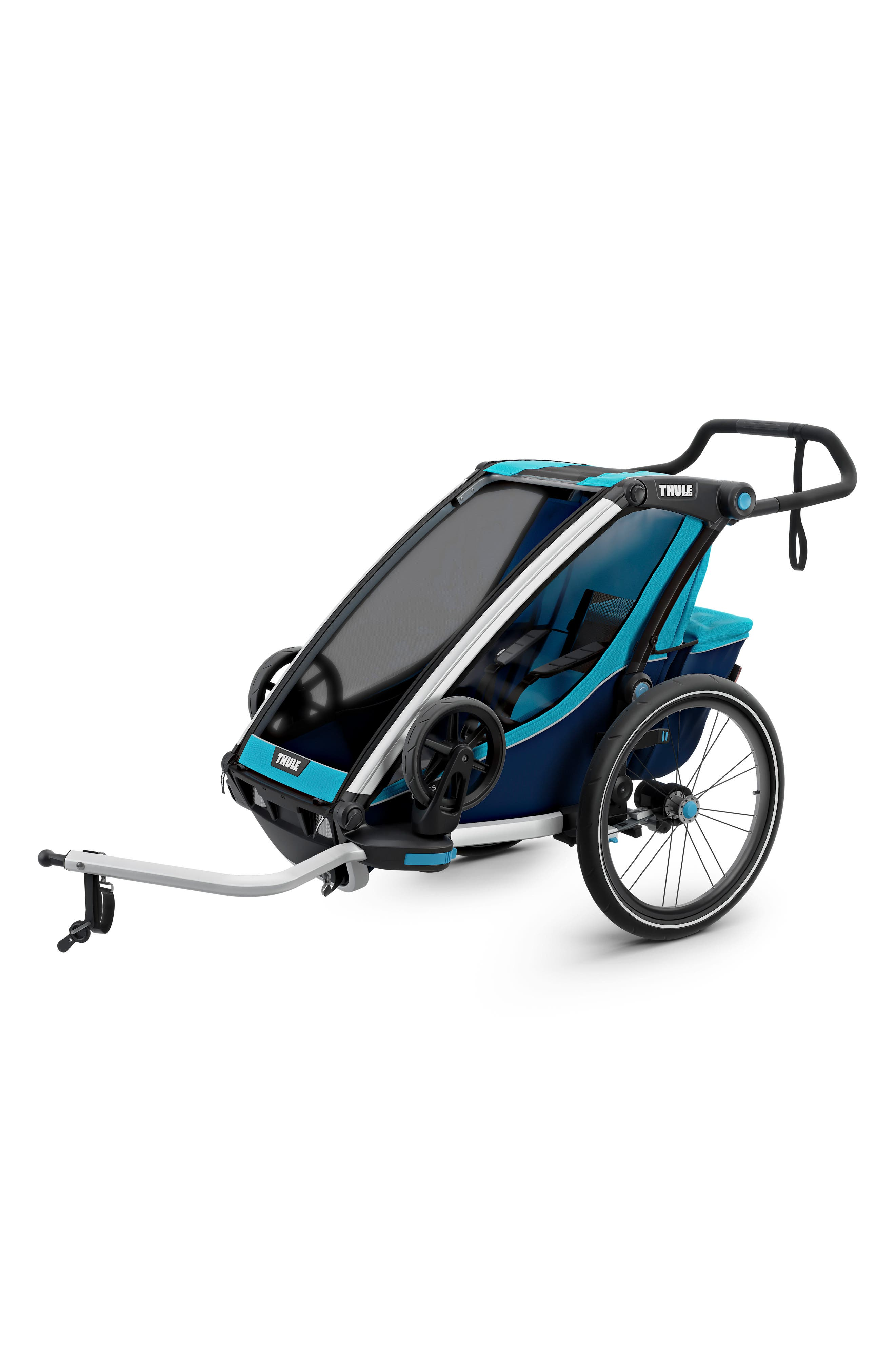 Chariot Cross 1 Multisport Cycle Trailer/Stroller,                             Alternate thumbnail 7, color,                             THULE BLUE