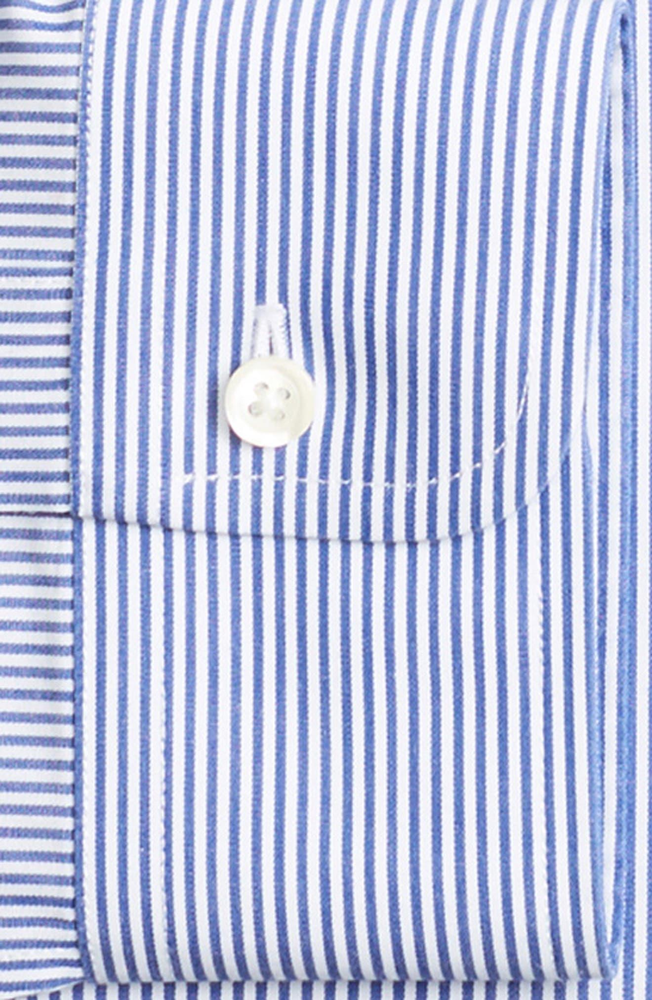 Classic Fit Stripe Dress Shirt,                             Alternate thumbnail 2, color,                             BLUE