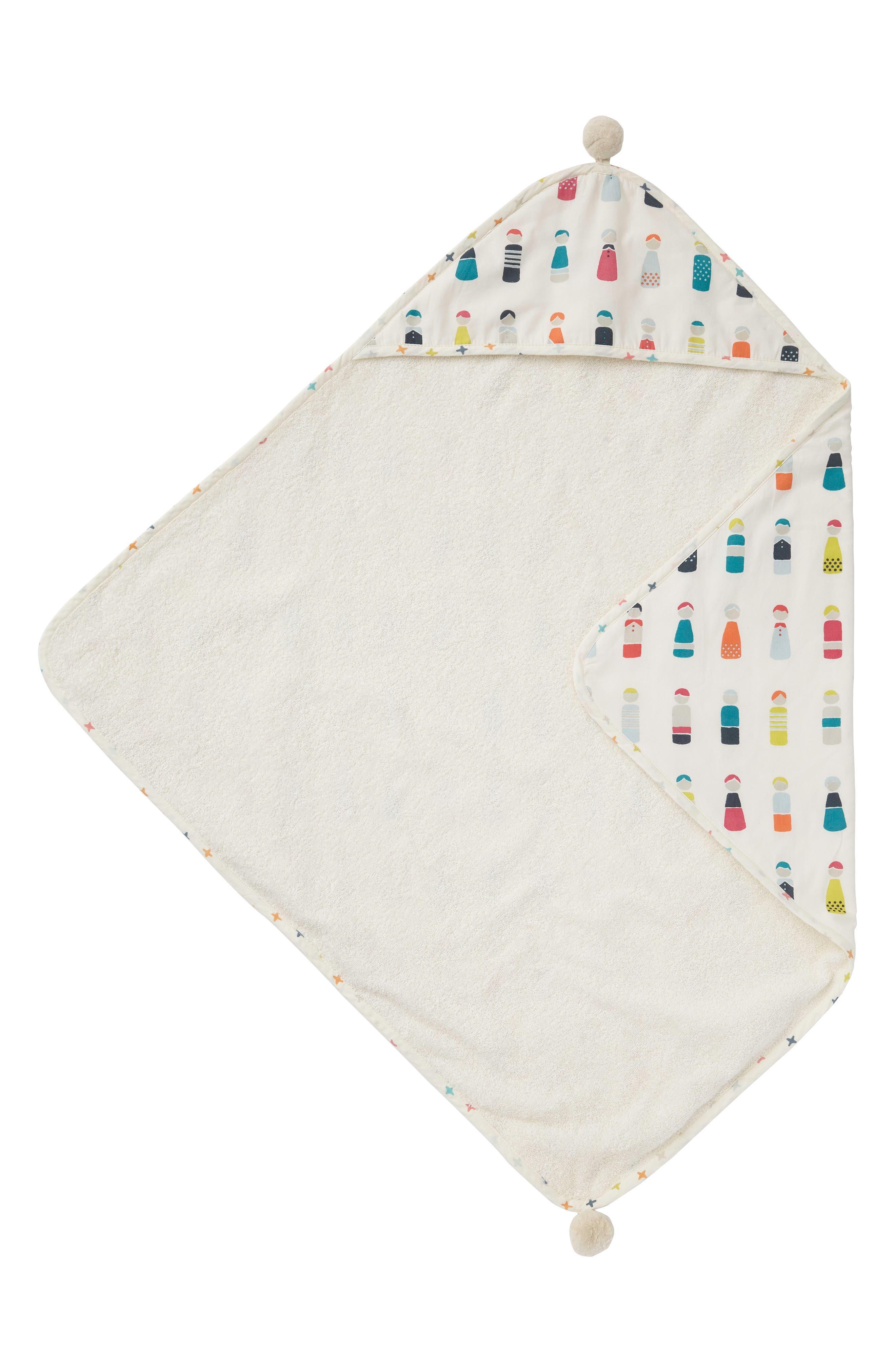 Little Peeps Print Hooded Towel,                         Main,                         color, 100