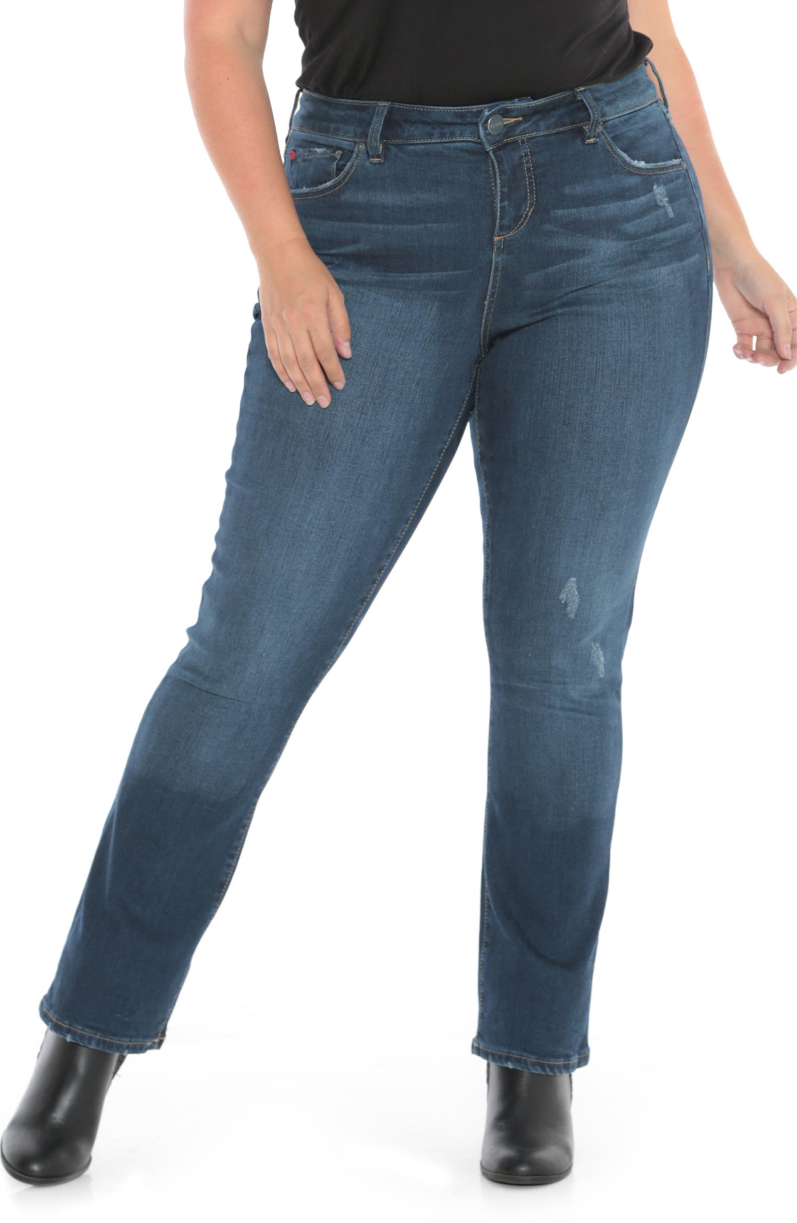 High Waist Crop Bootcut Jeans,                             Alternate thumbnail 6, color,                             SHEELA