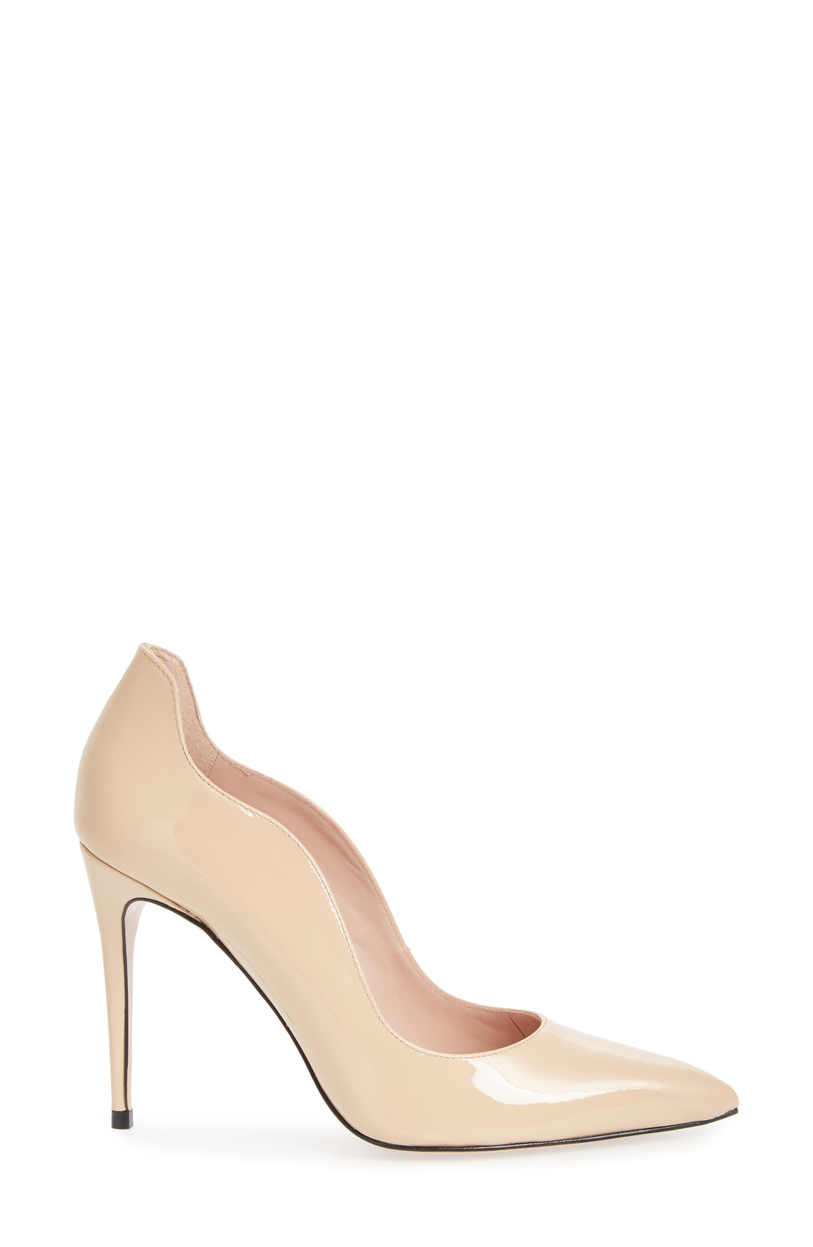 Anika Curvy Pump,                             Alternate thumbnail 3, color,                             NUDE SUEDE