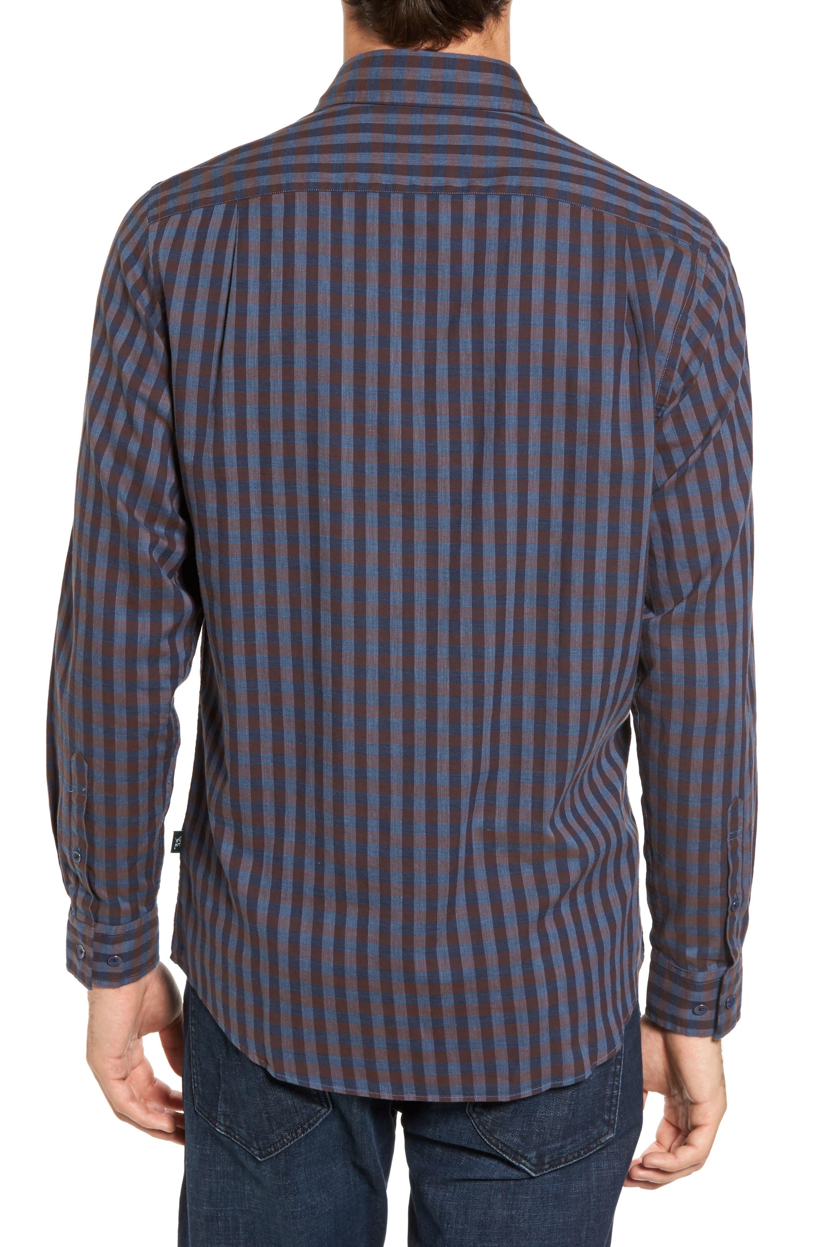 Gisborne Point Check Sport Shirt,                             Alternate thumbnail 2, color,