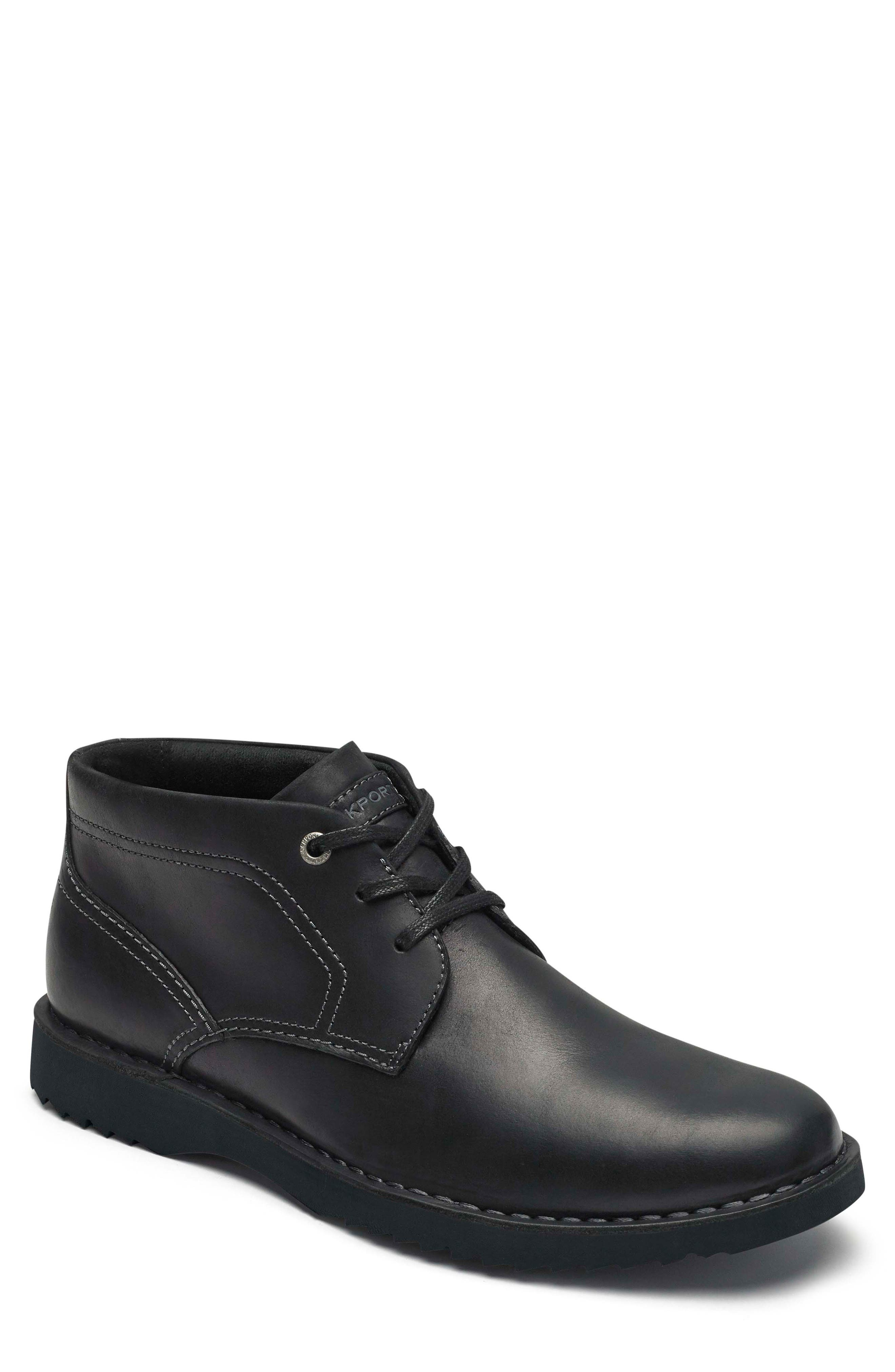Cabot Chukka Boot,                         Main,                         color, BLACK LEATHER