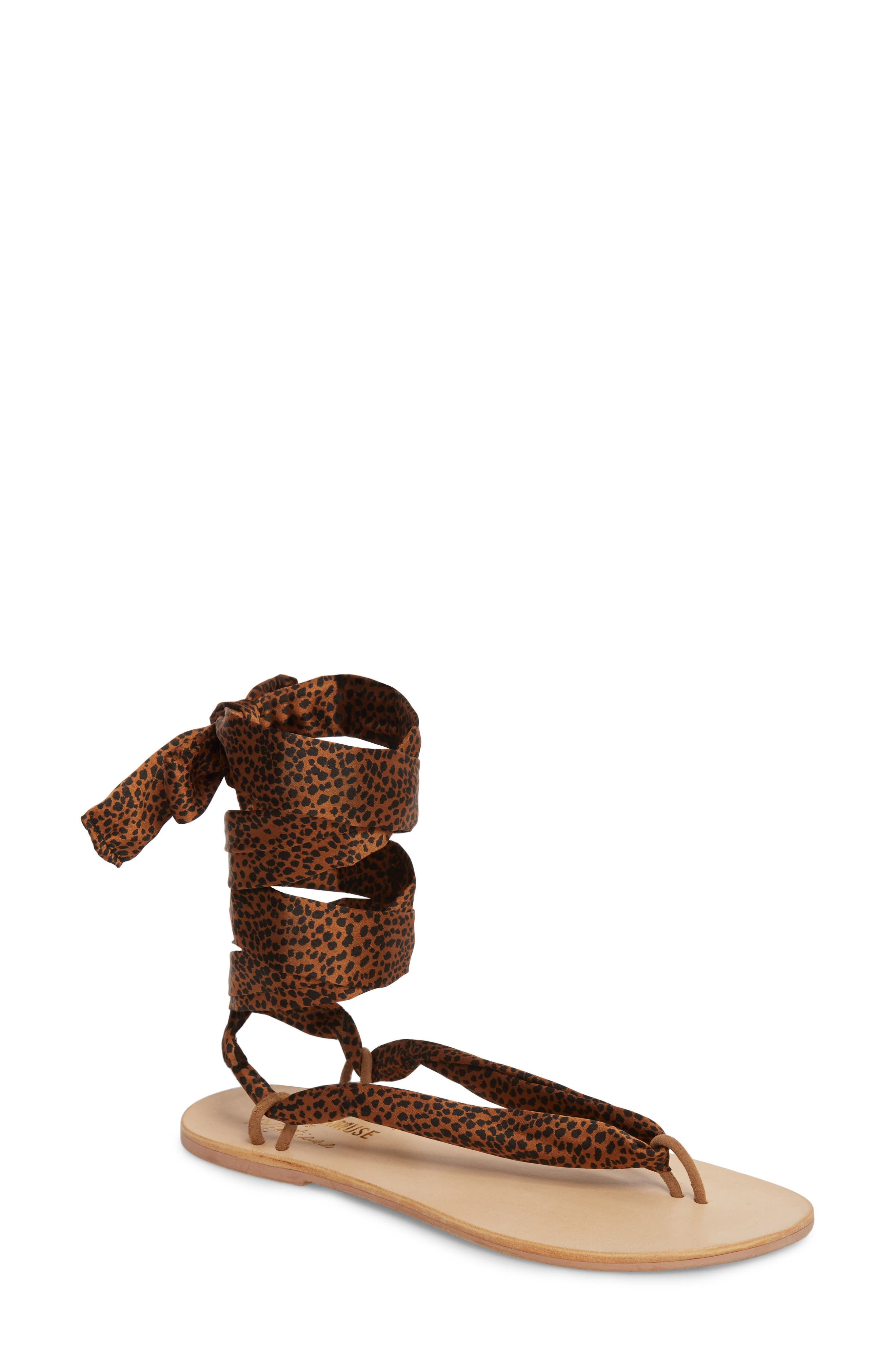 Amuse Society X Matisse Oceano Lace-Up Sandal, Brown
