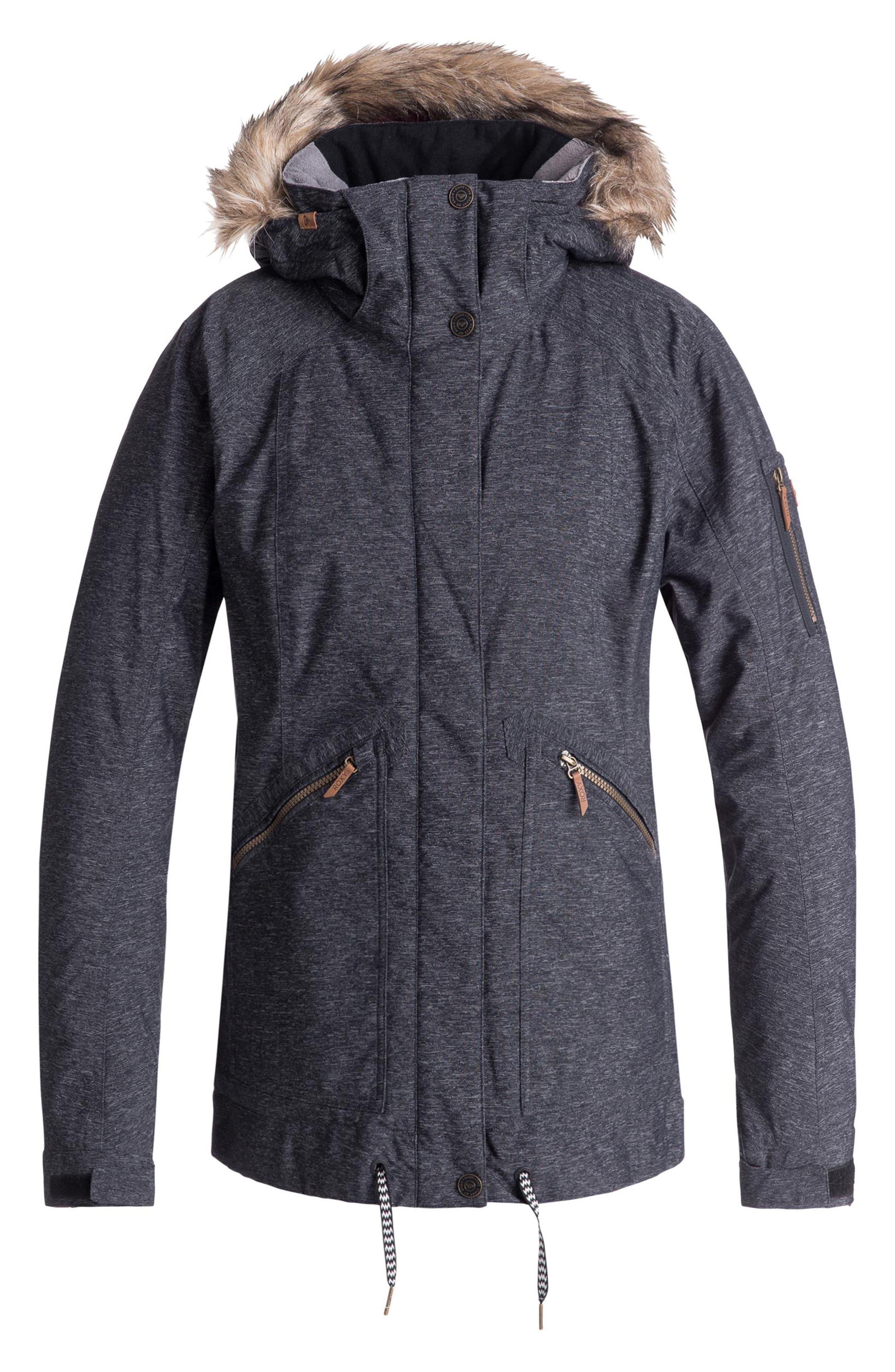 Meade Snow Jacket,                             Main thumbnail 1, color,                             TRUE BLACK