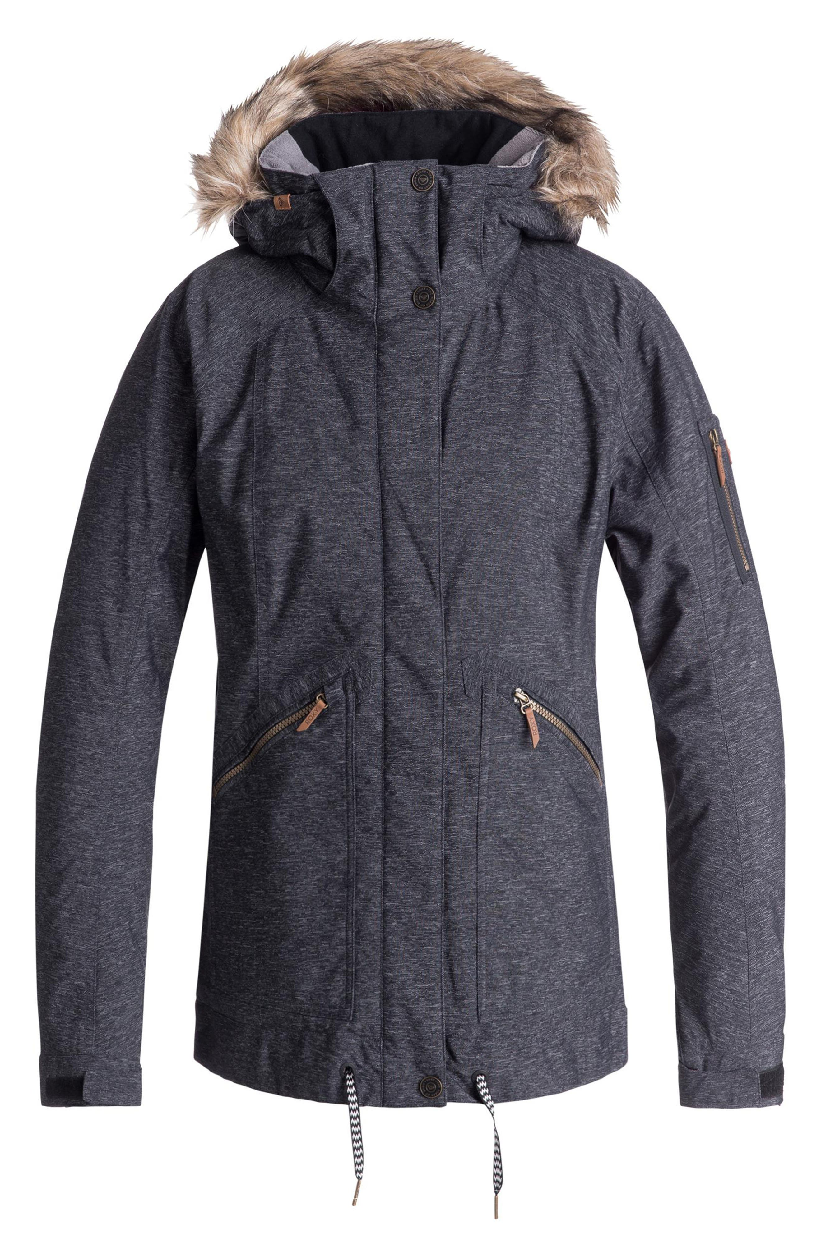 Meade Snow Jacket,                         Main,                         color, TRUE BLACK
