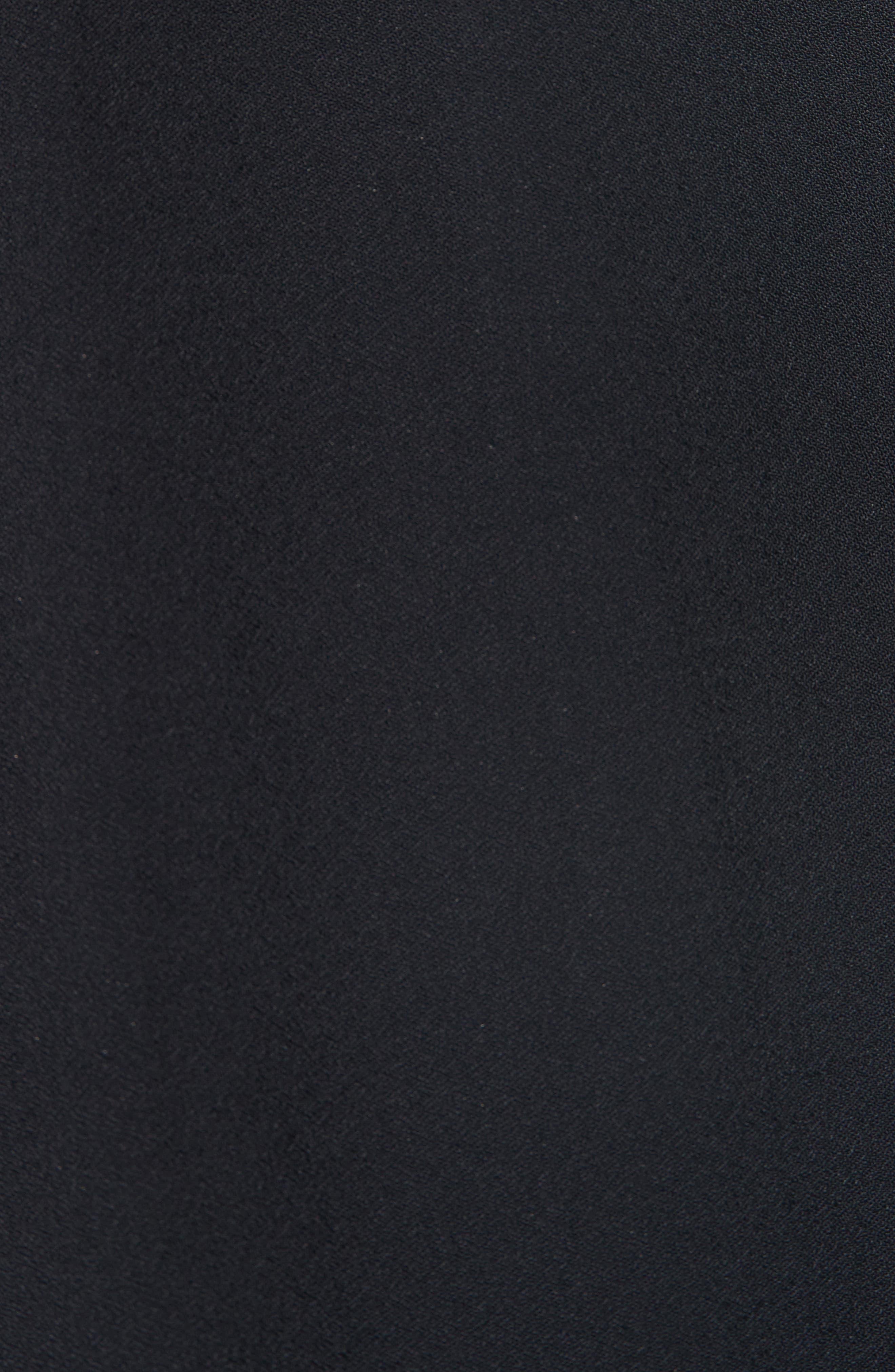 Slit Detail Midi Skirt,                             Alternate thumbnail 5, color,                             BLACK