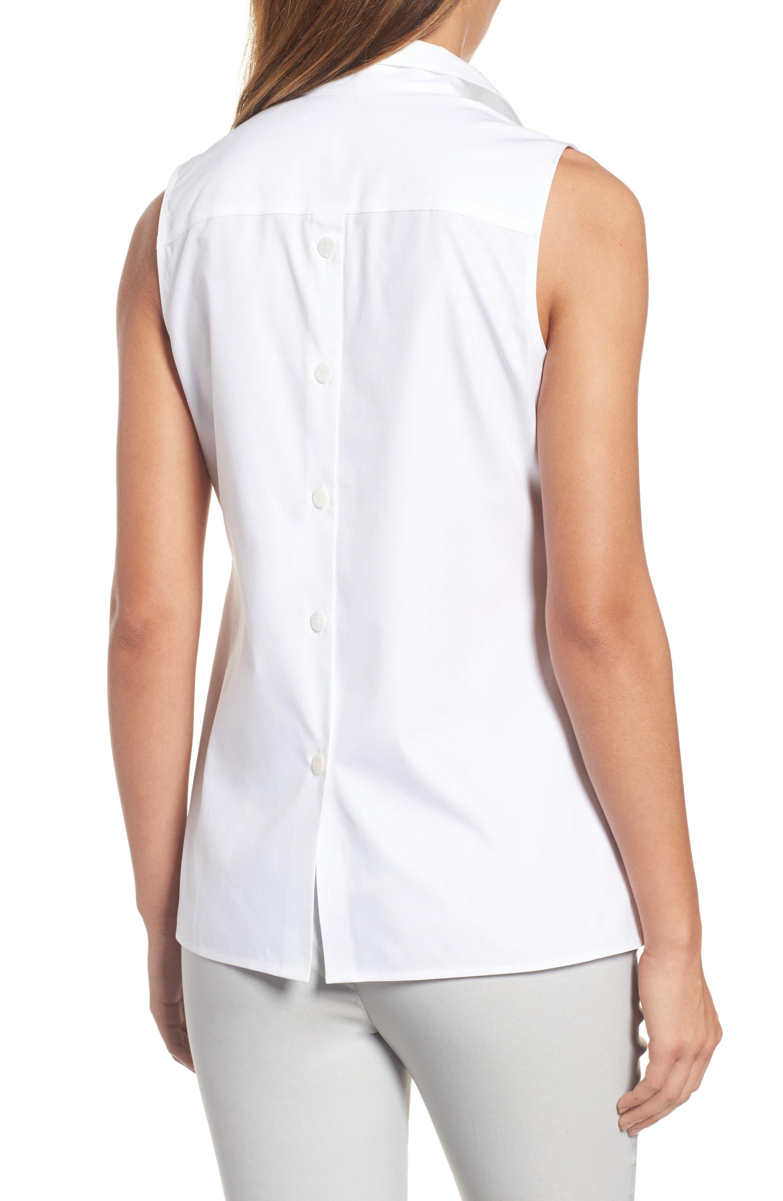Dani Button Back Shirt,                             Alternate thumbnail 2, color,                             100