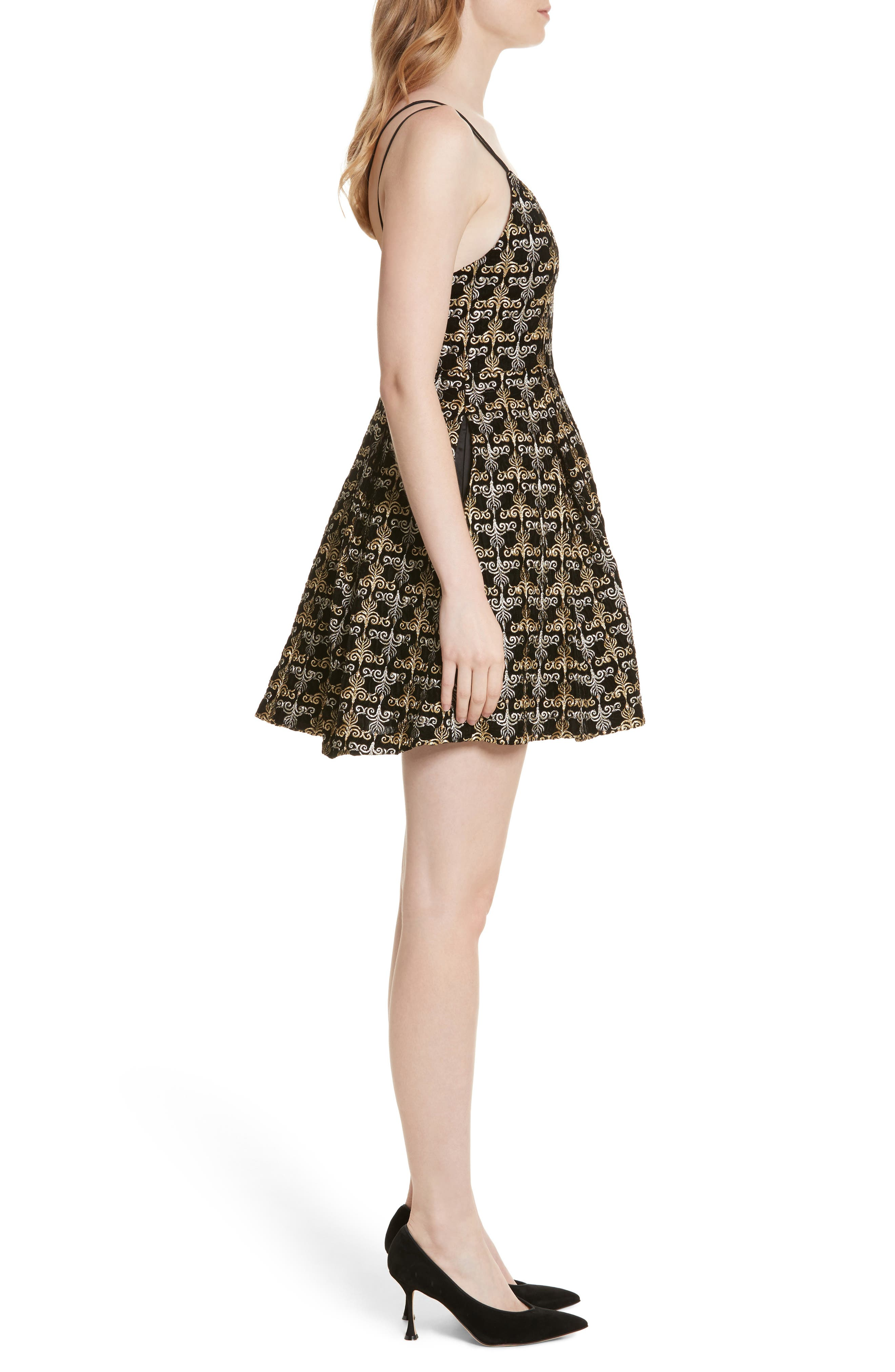 Marilla Embroidered Strappy Dress,                             Alternate thumbnail 3, color,                             002