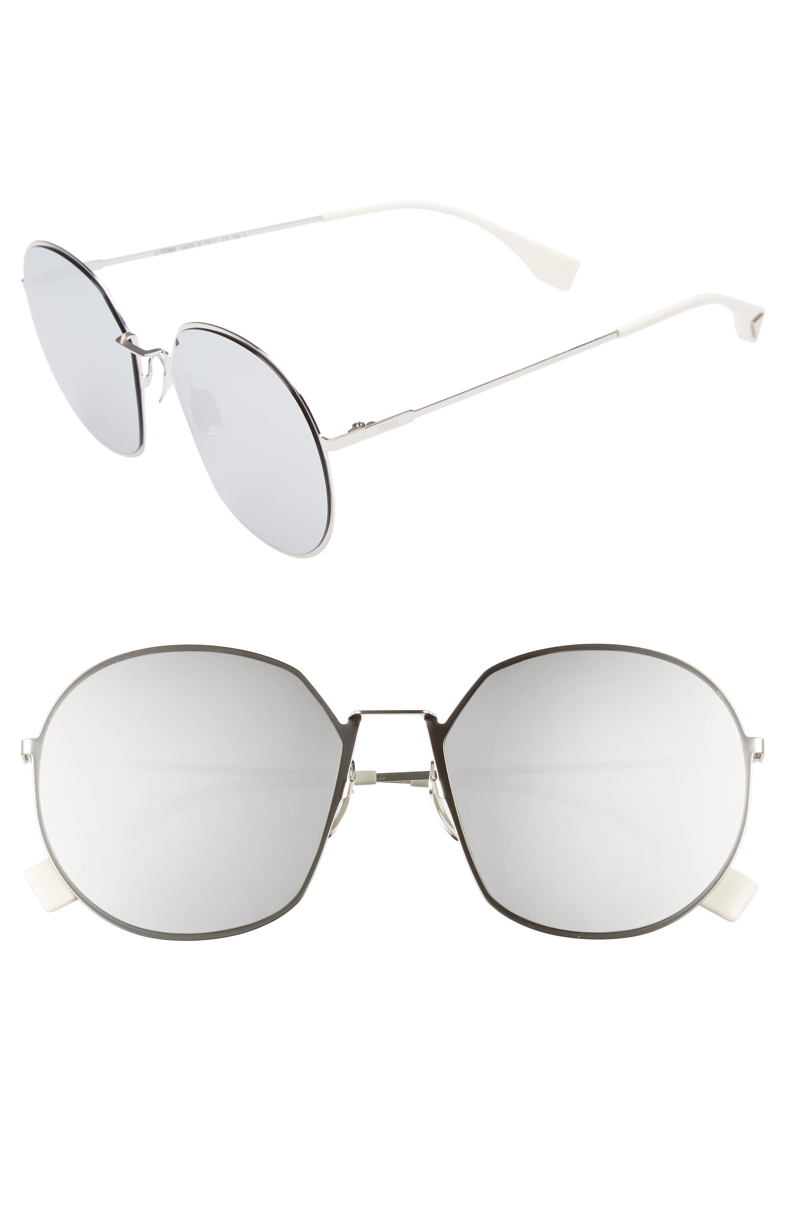 59mm Round Special Fit Sunglasses,                             Main thumbnail 2, color,