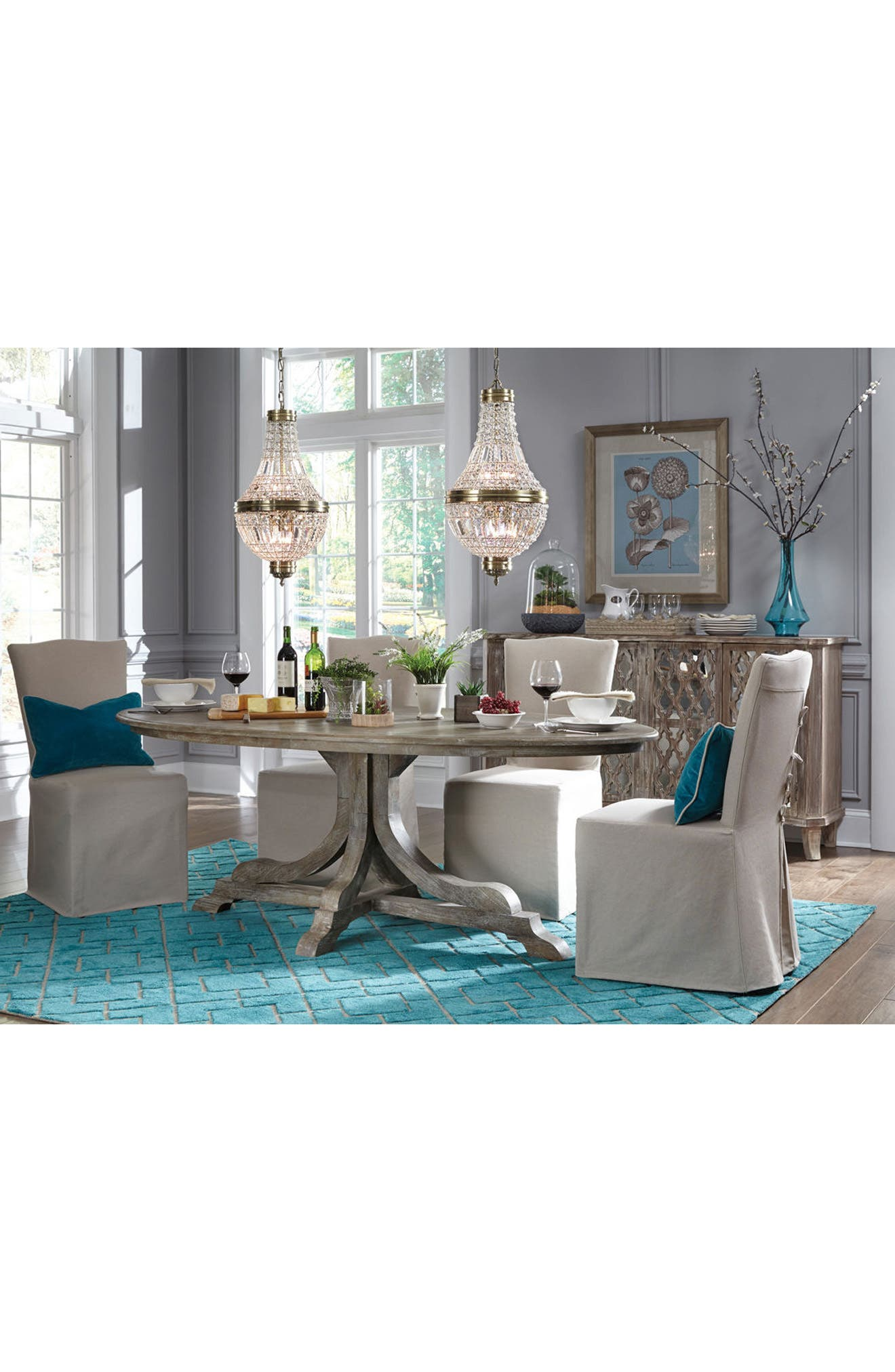 VILLA HOME COLLECTION,                             'Over Tufted - Turquoise' Rug,                             Alternate thumbnail 2, color,                             440