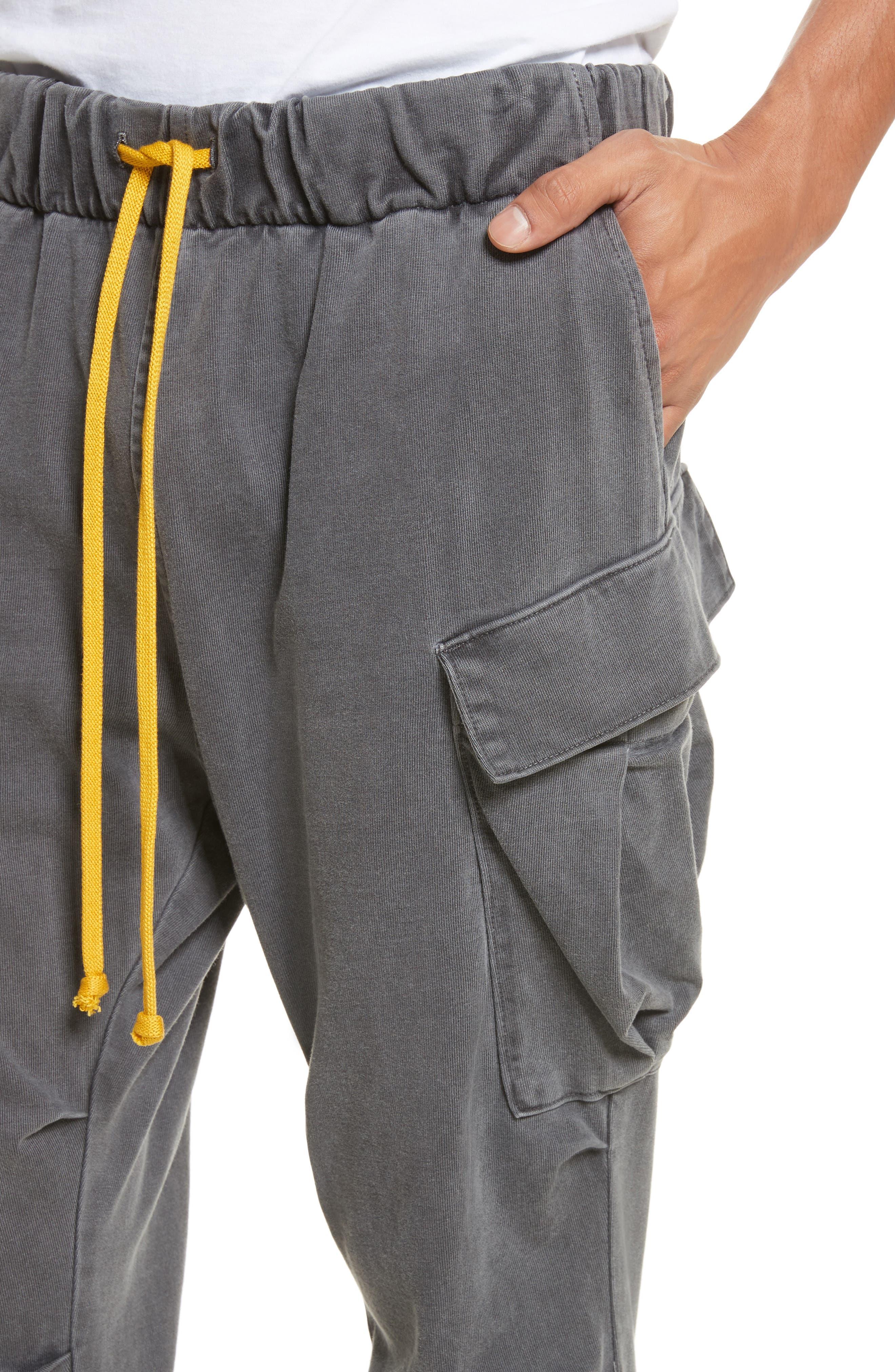 Geri Cropped Jogger Cargo Pants,                             Alternate thumbnail 4, color,                             989