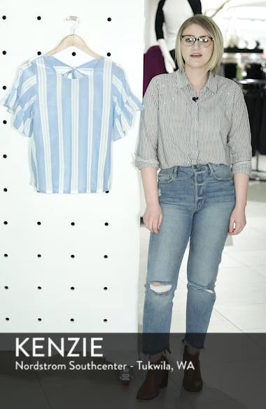 Stripe Tie Back Top, sales video thumbnail