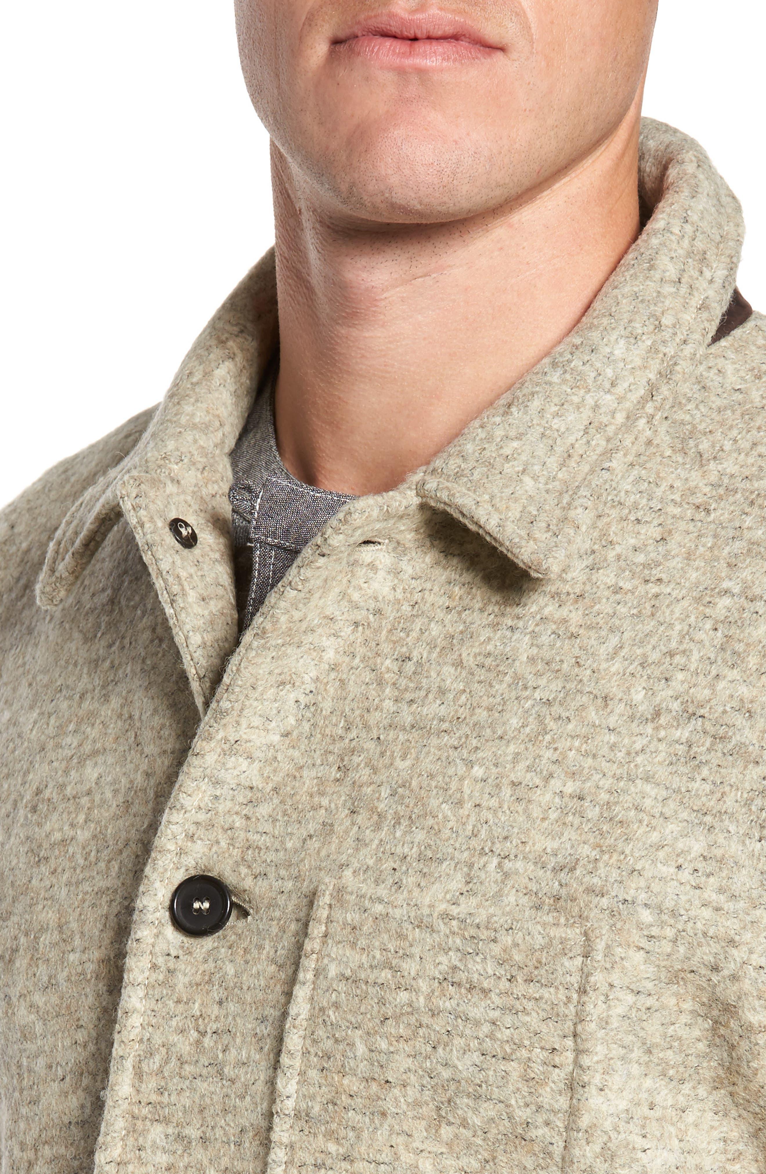 Gunner Wool Blend Jacket,                             Alternate thumbnail 4, color,                             270