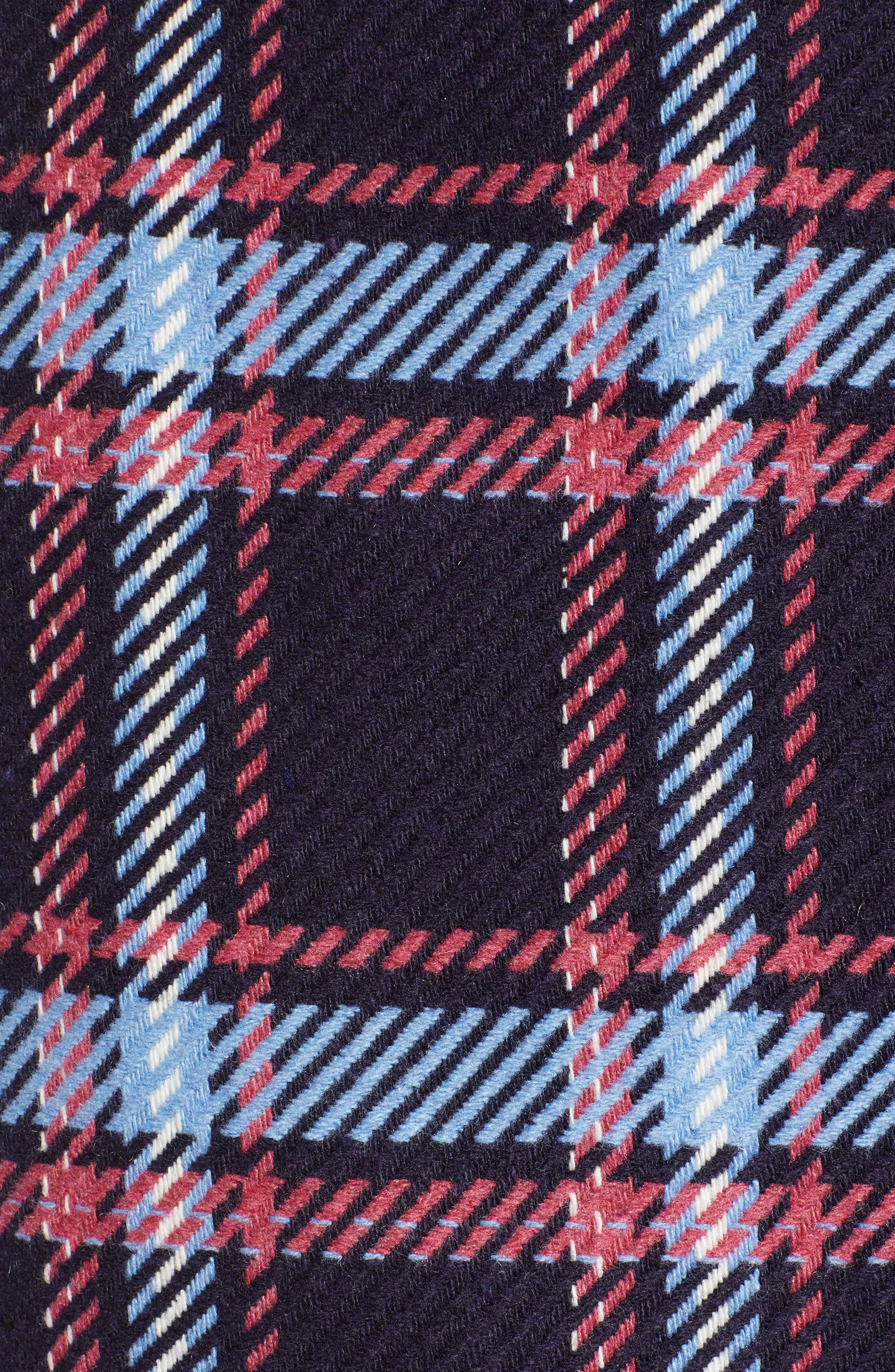 x Atlantic-Pacific Plaid Wrap Pencil Skirt,                             Alternate thumbnail 5, color,                             NAVY PLAID
