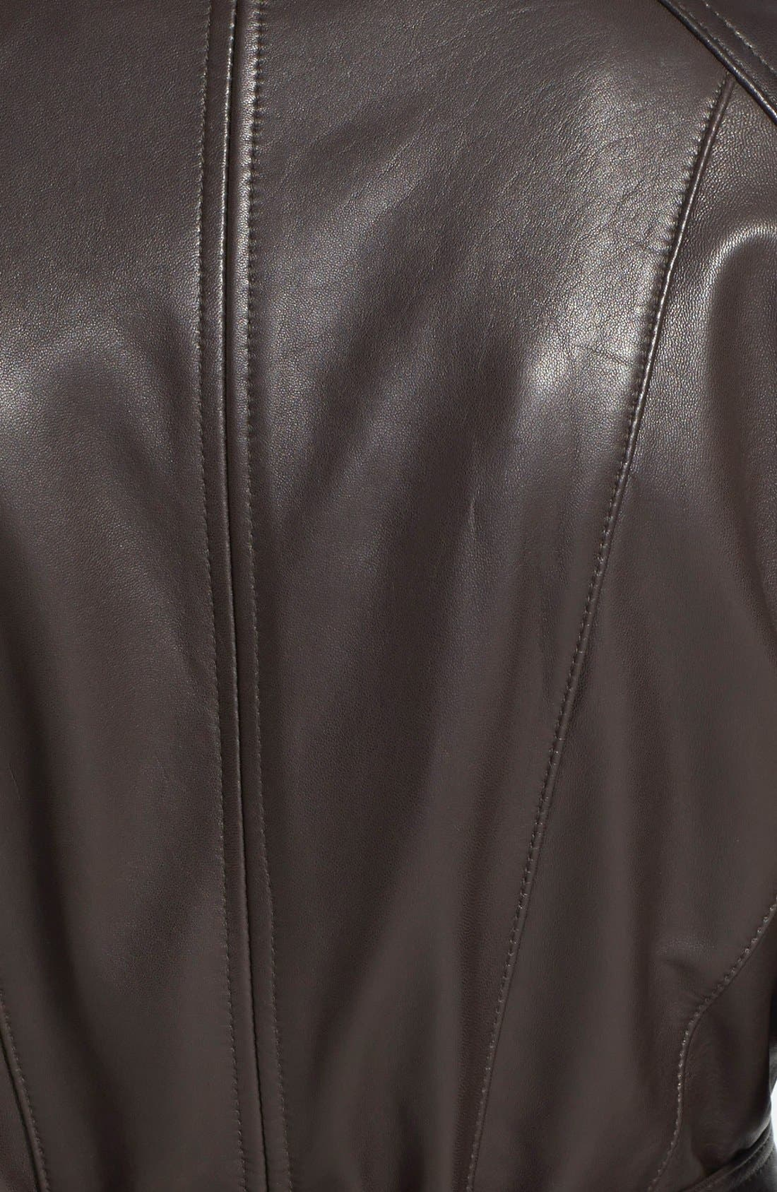 Leather Trench Jacket,                             Alternate thumbnail 10, color,
