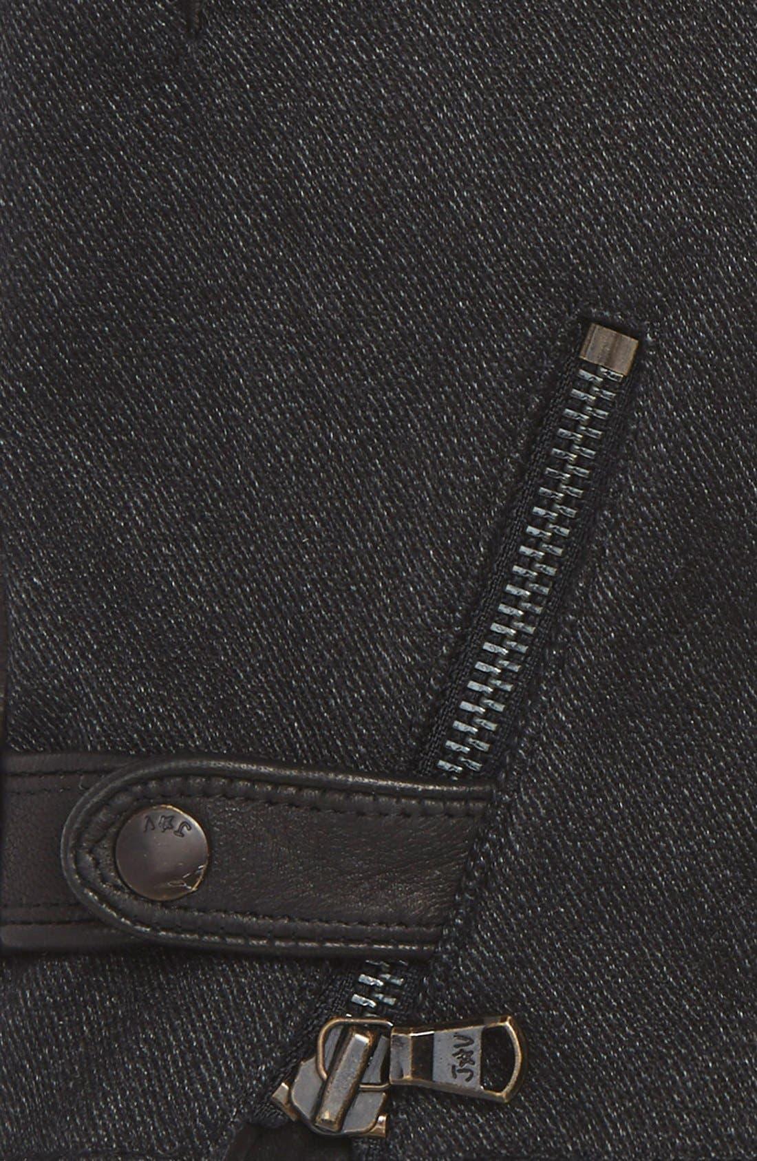 Wool Blend Zip Gloves,                             Alternate thumbnail 5, color,
