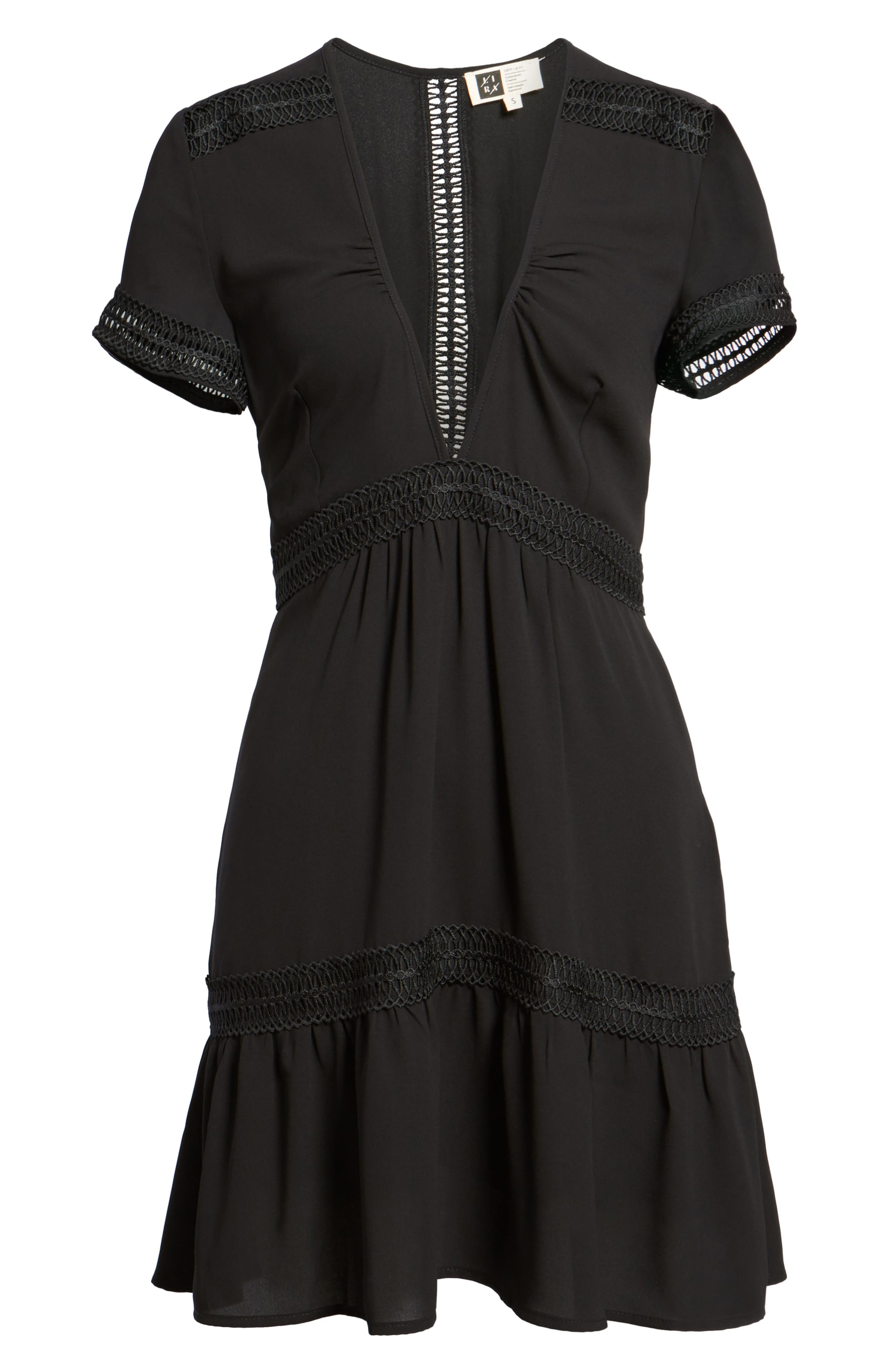 Take Hold Tiered Dress,                             Alternate thumbnail 6, color,                             001