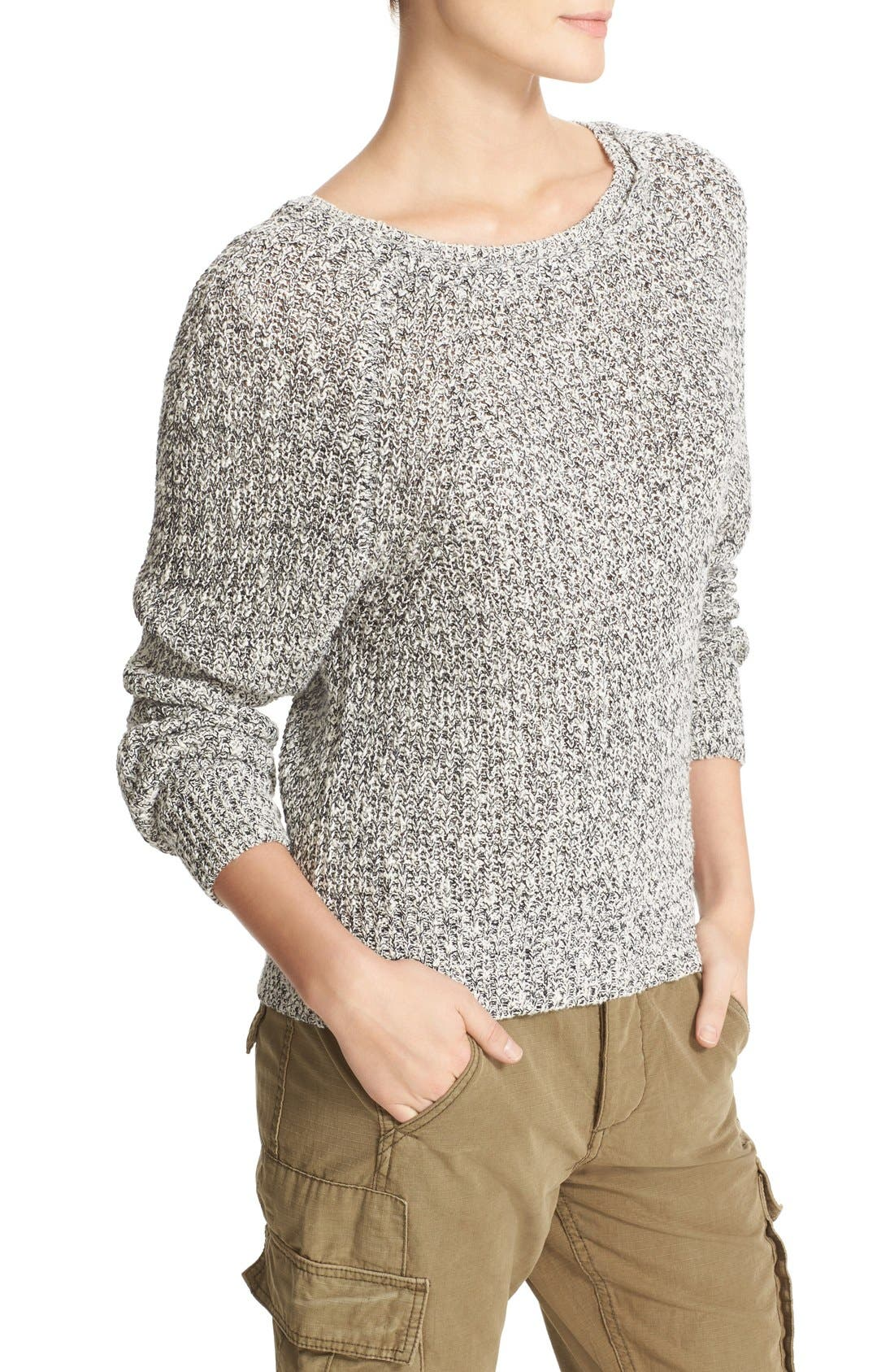Electric City Pullover Sweater,                             Alternate thumbnail 3, color,                             001