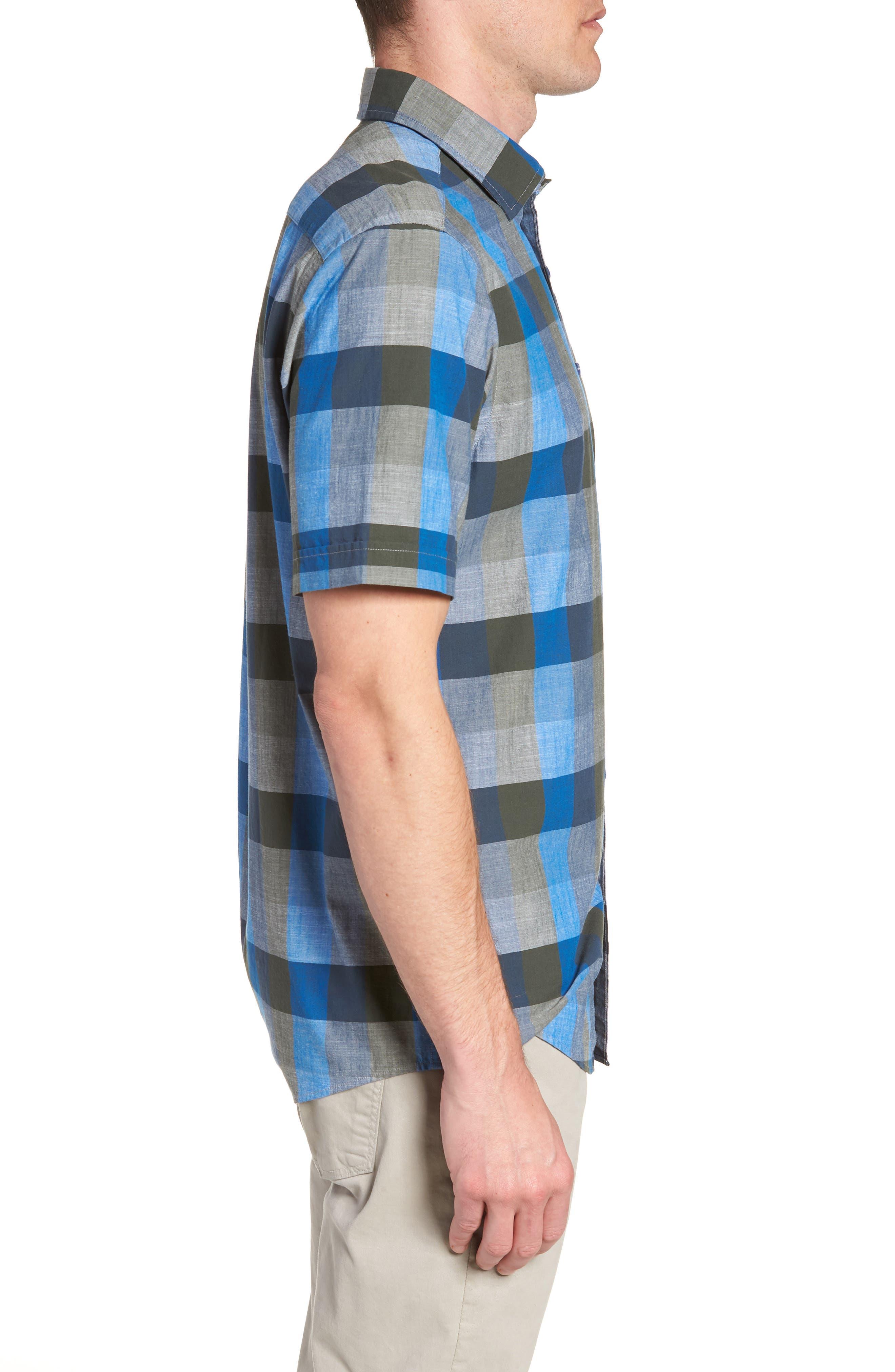 Knighton Regular Fit Sport Shirt,                             Alternate thumbnail 3, color,                             RIVER