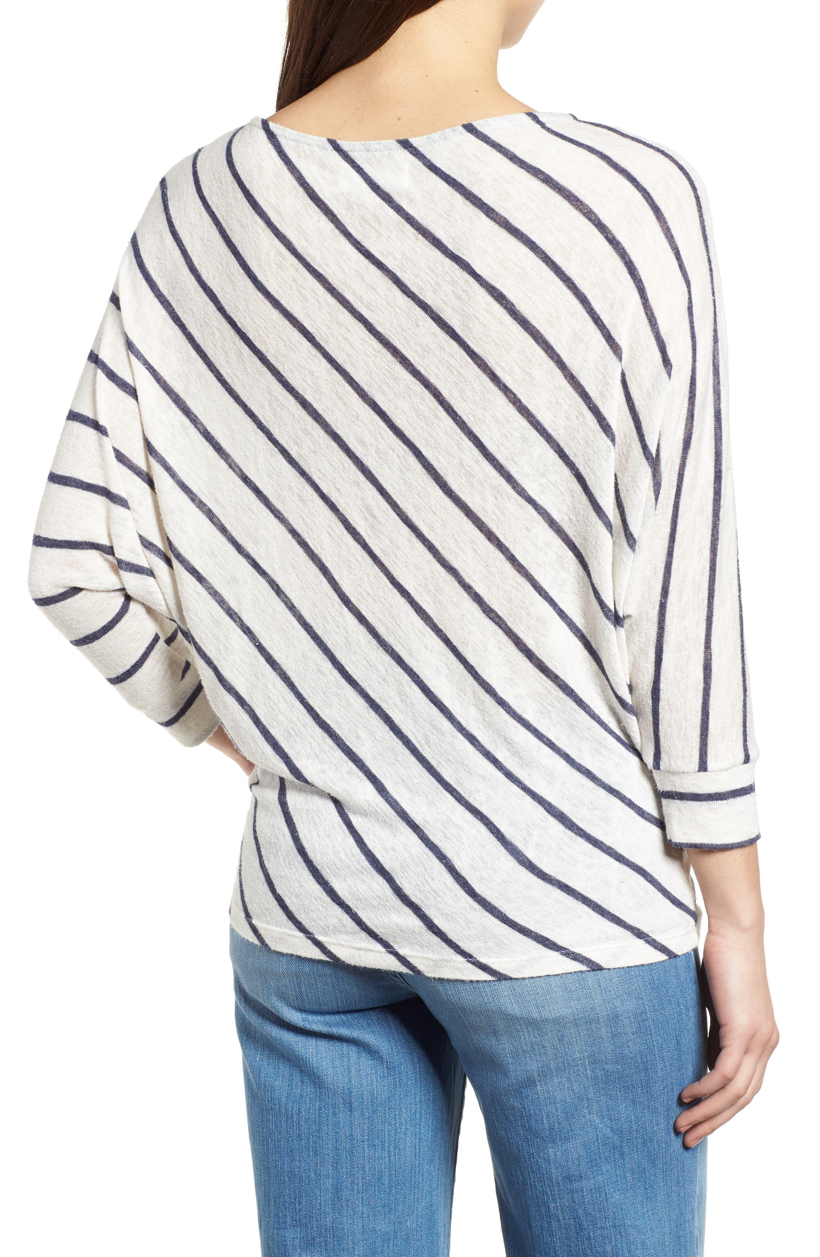 Stripe Dolman Sleeve Top,                             Alternate thumbnail 2, color,                             195