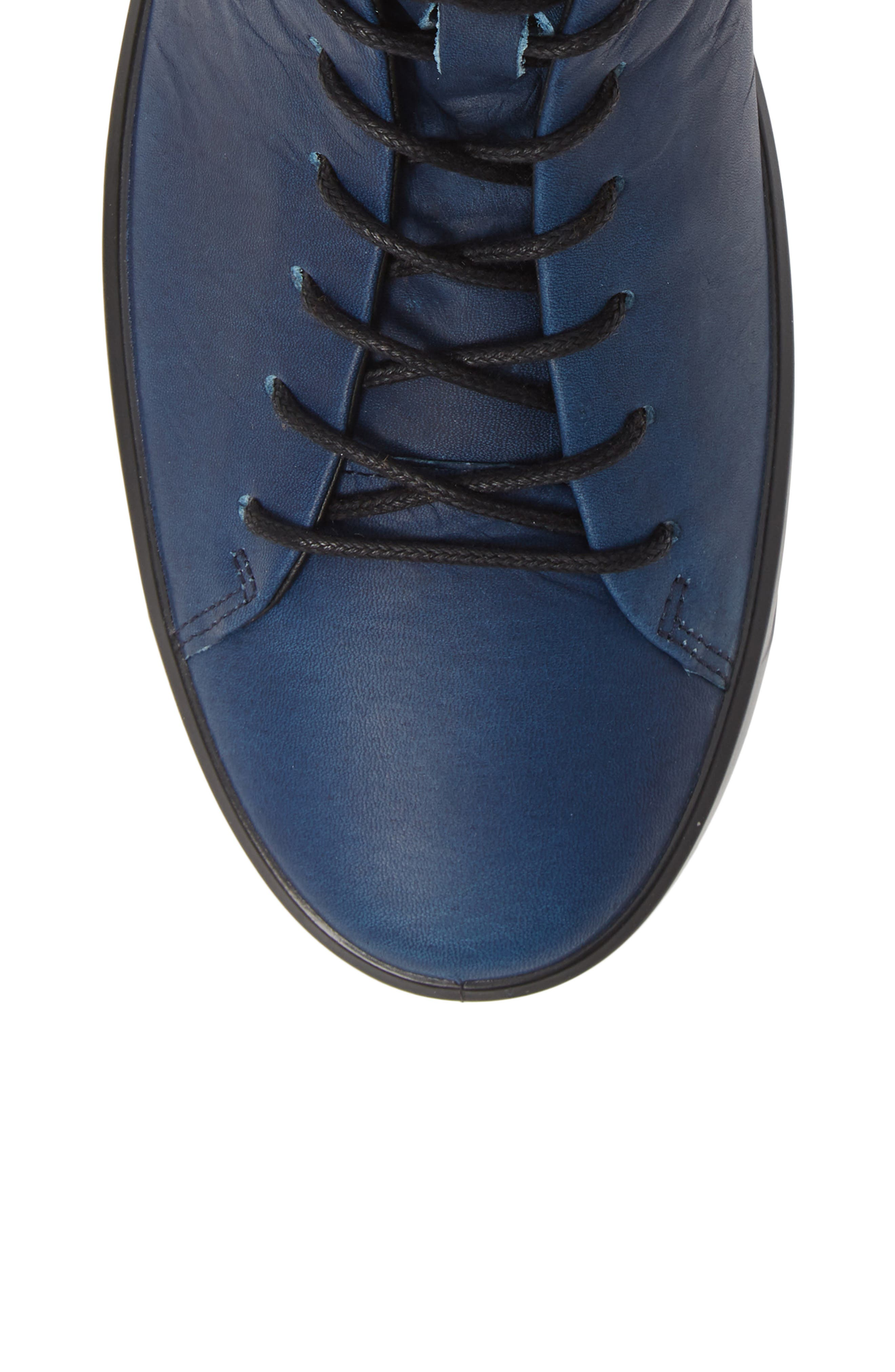 Soft 8 Sneaker,                             Alternate thumbnail 5, color,                             INDIGO LEATHER