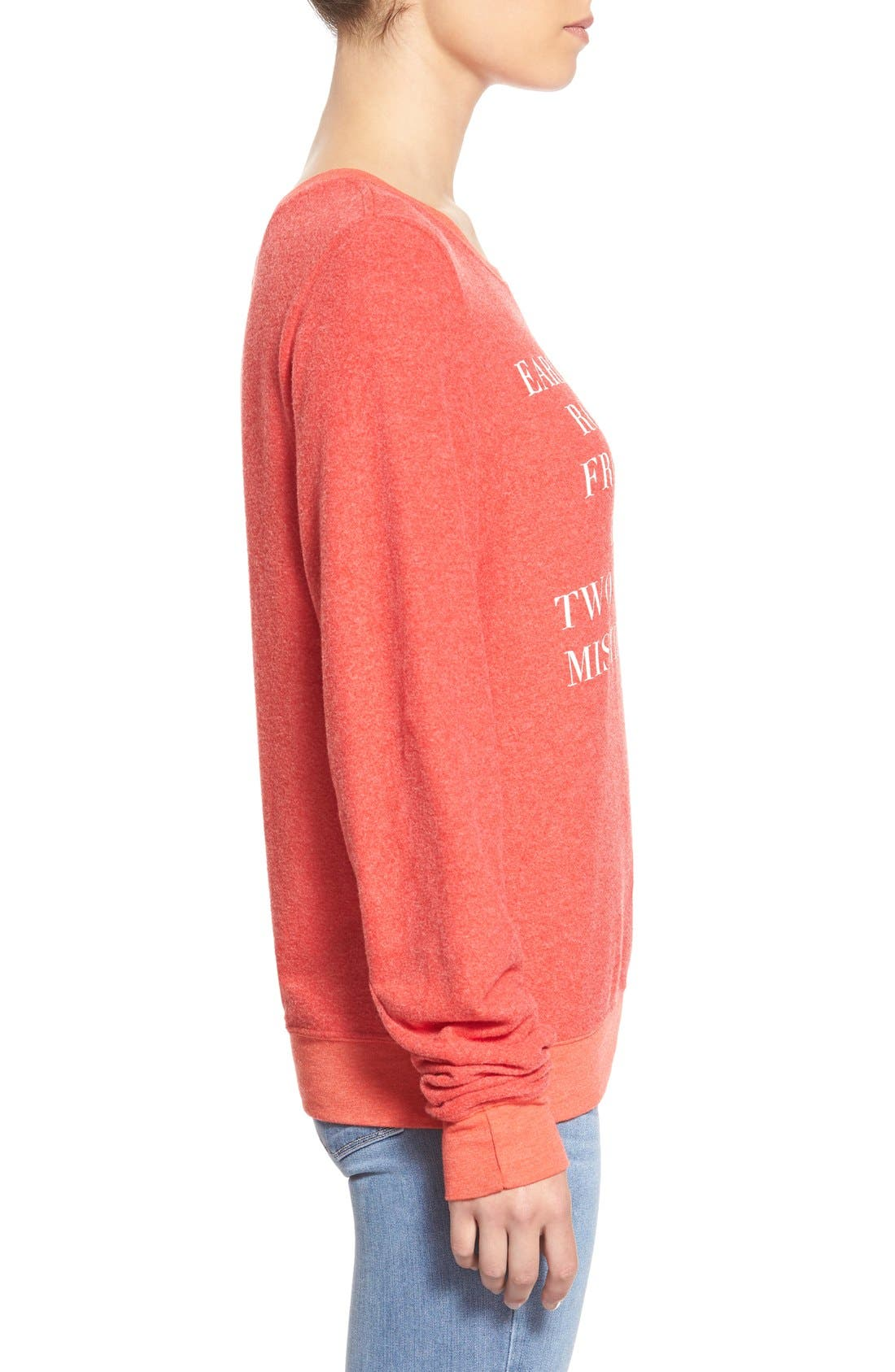 'Baggy Beach Jumper - Holiday List' Pullover,                             Alternate thumbnail 3, color,                             600
