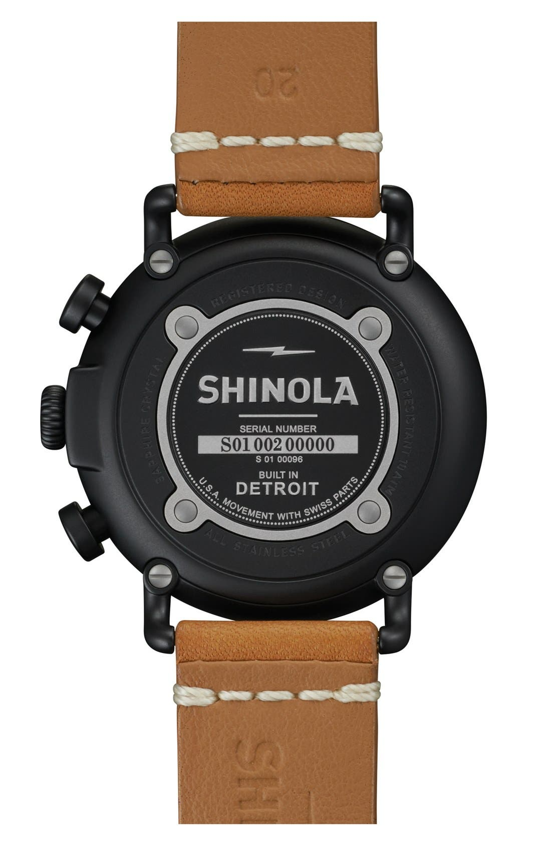 'The Runwell Chrono' Leather Strap Watch, 41mm,                             Alternate thumbnail 17, color,