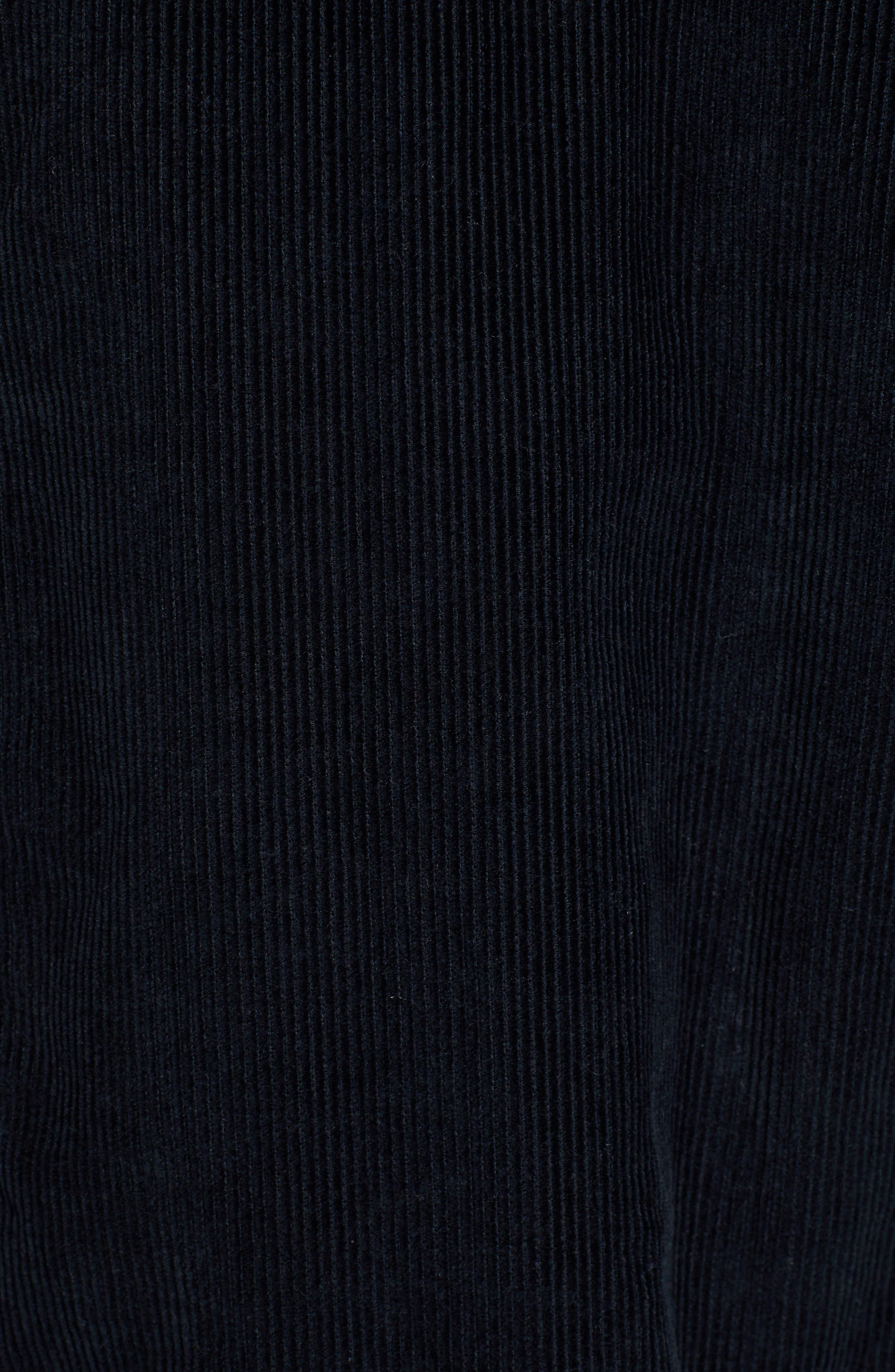 The Edge Of Wildness Corduroy Shirt,                             Alternate thumbnail 5, color,                             TRUE BLACK
