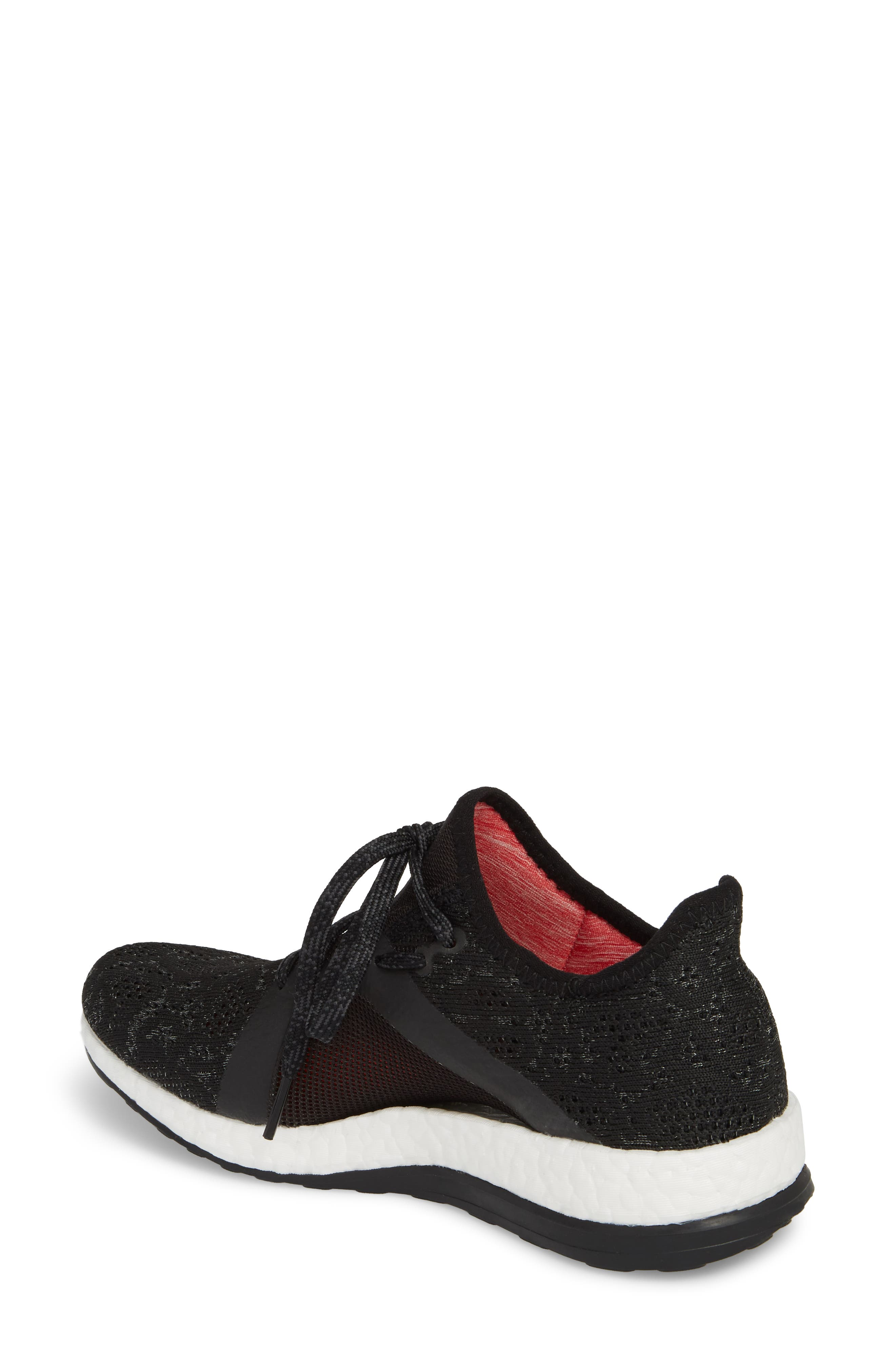 PureBoost X Element Knit Running Shoe,                             Alternate thumbnail 2, color,                             002