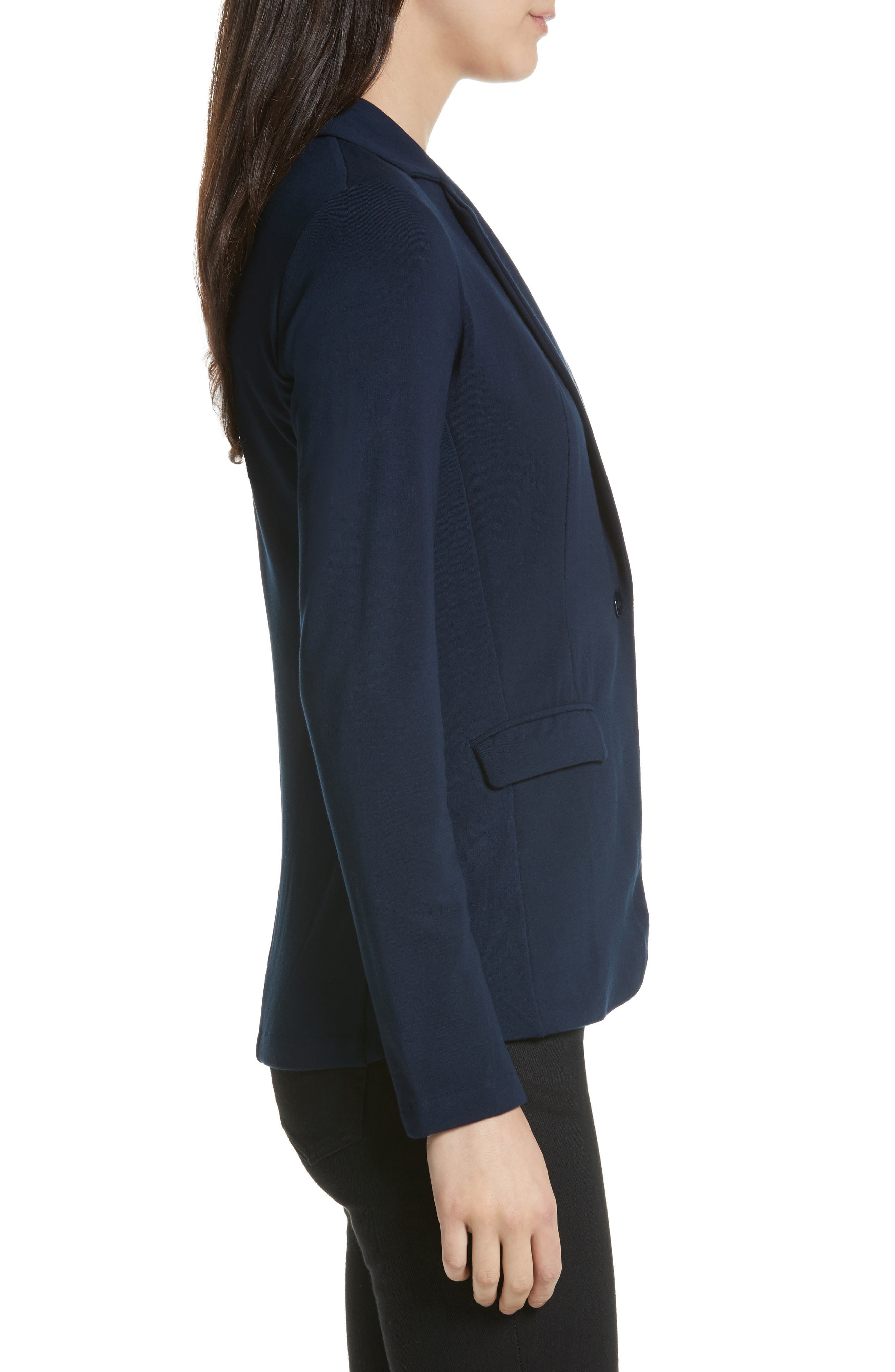 French Terry Blazer,                             Alternate thumbnail 6, color,